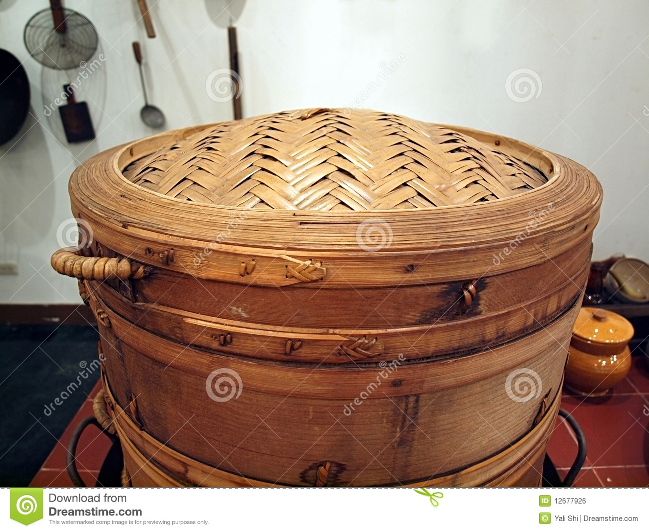 Large Bamboo Steamer Royalty Free Stock Image Image
