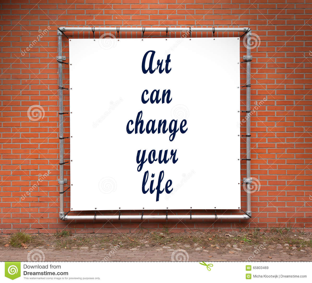 Uncommon Quotes That Can Change Your Life: Brick Banner Vector Illustration