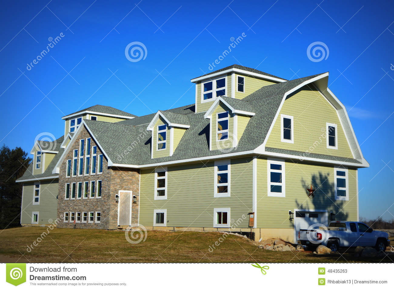 Large Barn Being Converted Into A House Stock Image