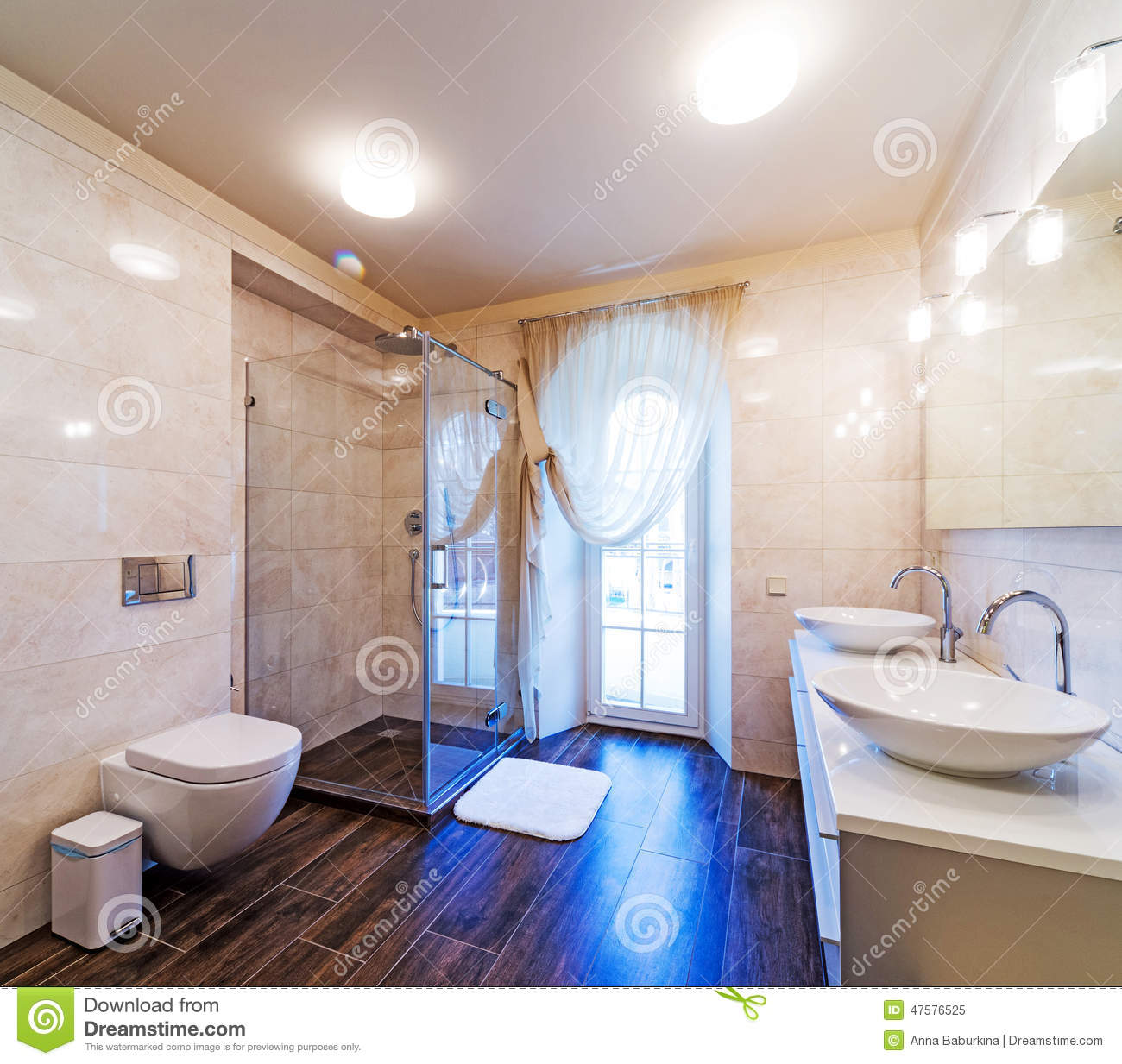 Large bathroom stock photo image 47576525 for Large bathroom