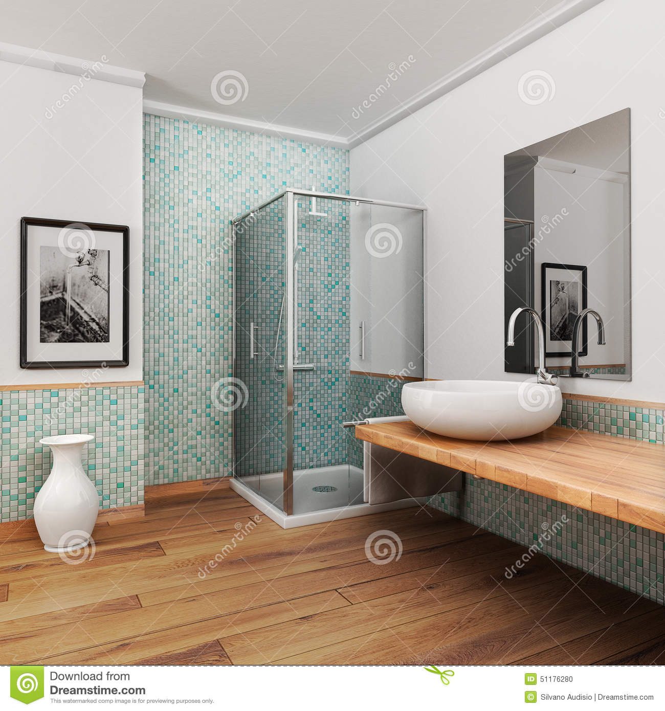 Large Bathroom Stock Illustration - Image: 51176280