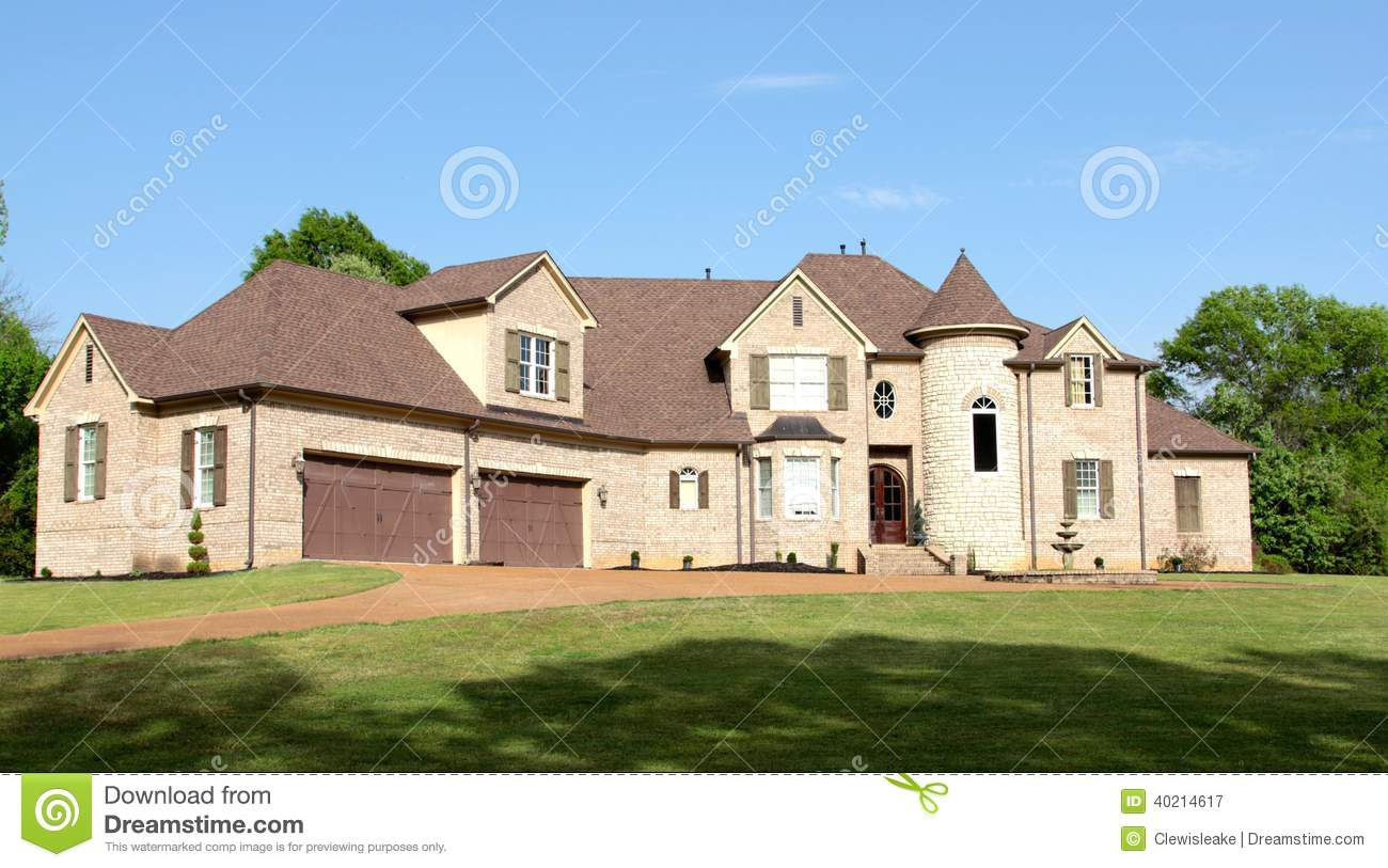 Large beautiful residential mansion home stock photo - Les plus belles maison du monde ...