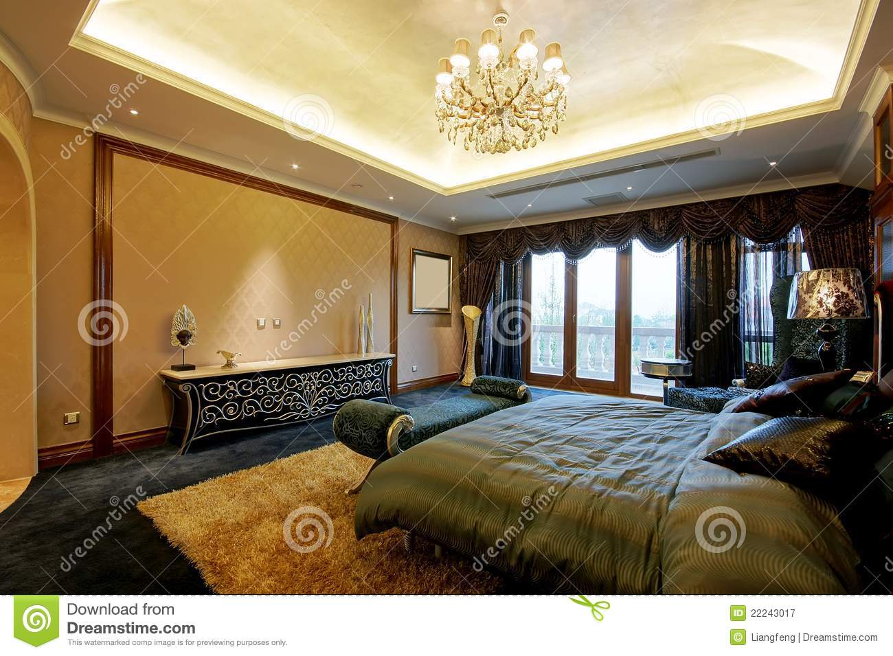 Large bedroom royalty free stock photography image 22243017 - Image bed room ...