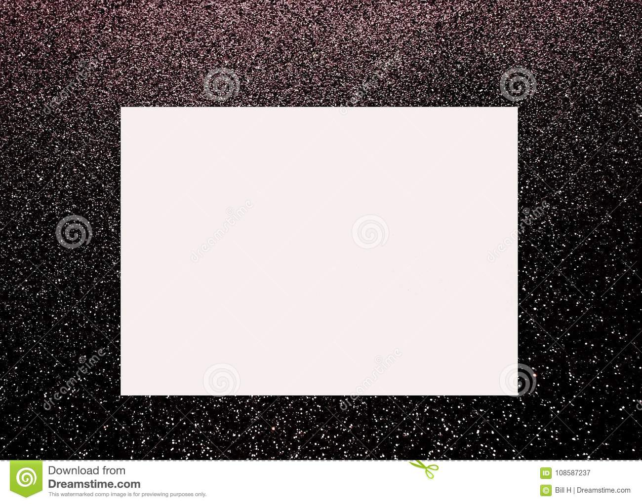 A Large Blank Box On A Black And White Bacground Stock Image - Image