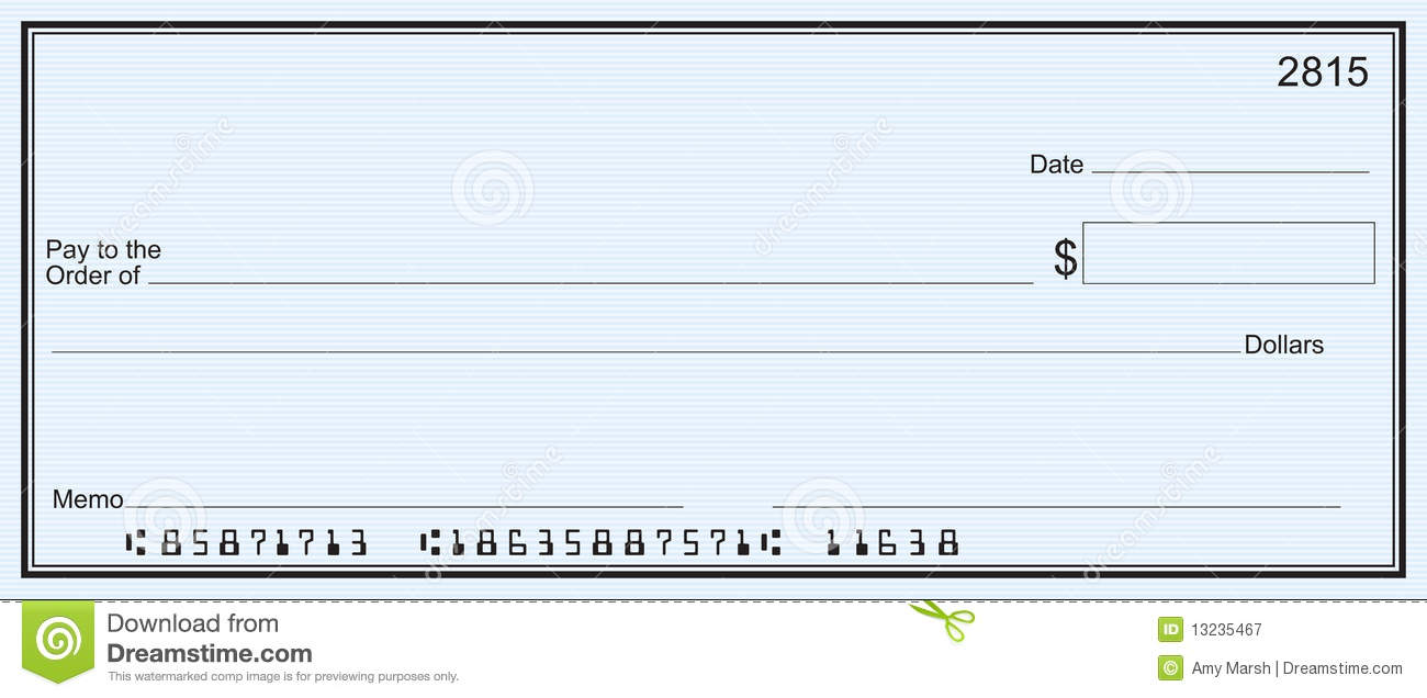 Effortless image with printable personal checks