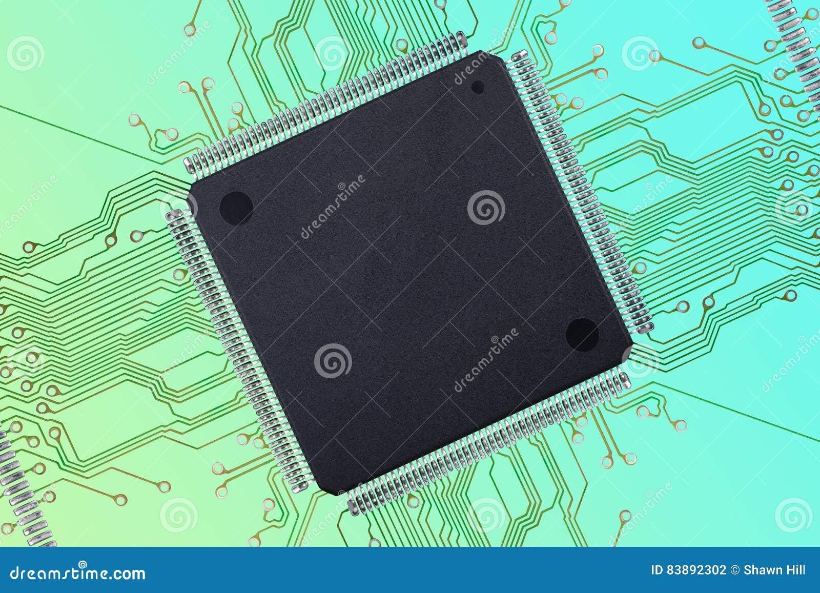 Integrated Circuit In Foam Block Royalty-Free Stock Photo