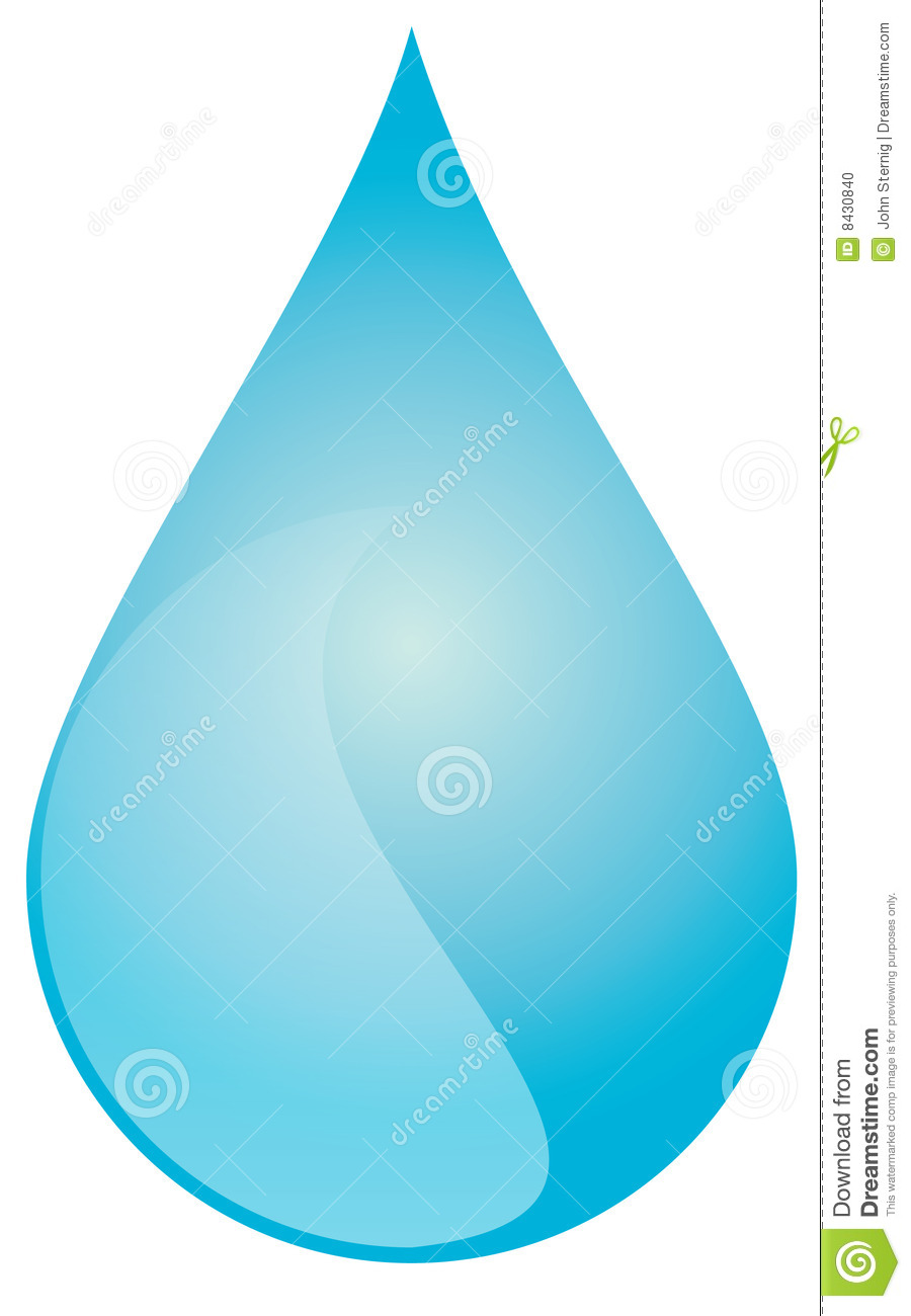 Large blue water drop (Vector Available)