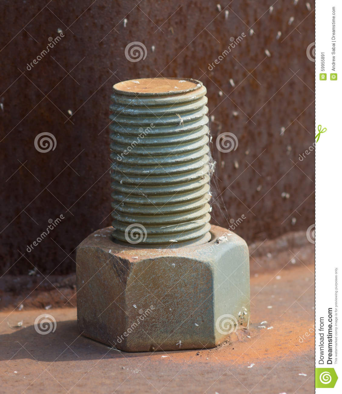 Large Nuts And Bolts : Large bolt and nut stock photo image