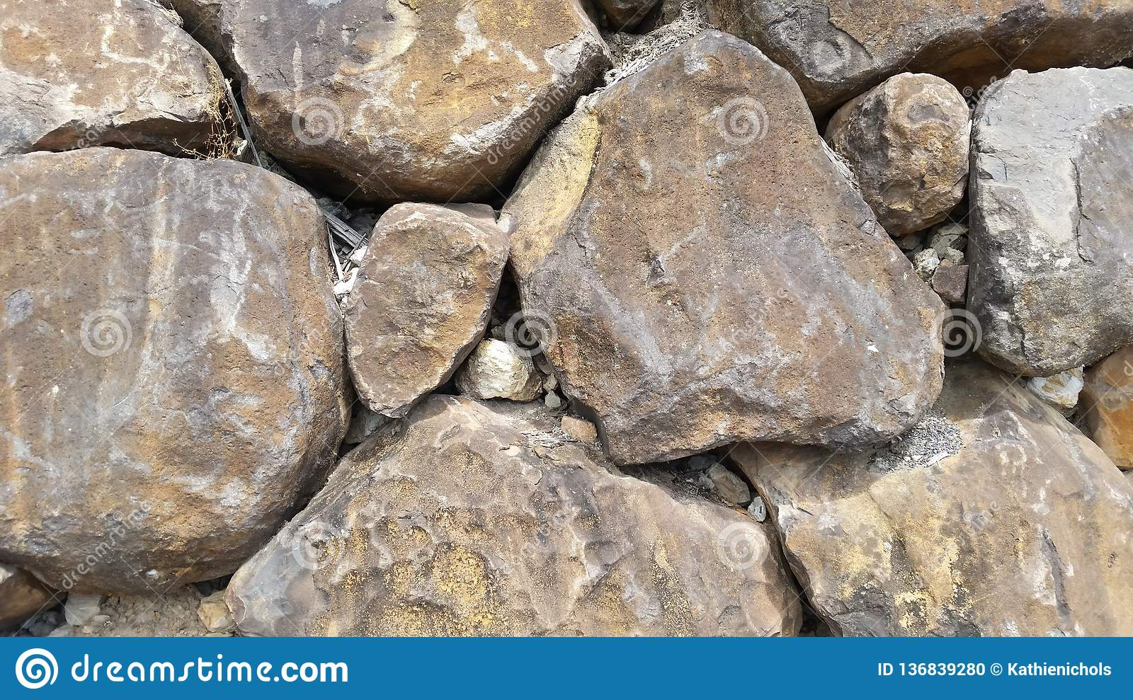 Large Boulders Rock Textures Rock Wall Stock Photo Image Of
