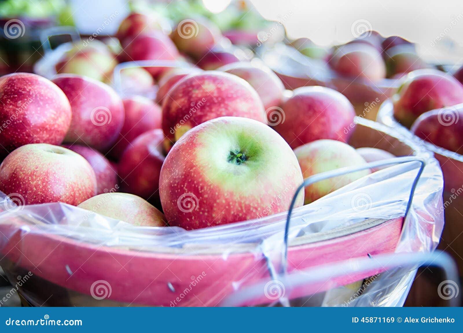 Large Bushel Basket Full Of Fresh Locally Grown Red Apples ...