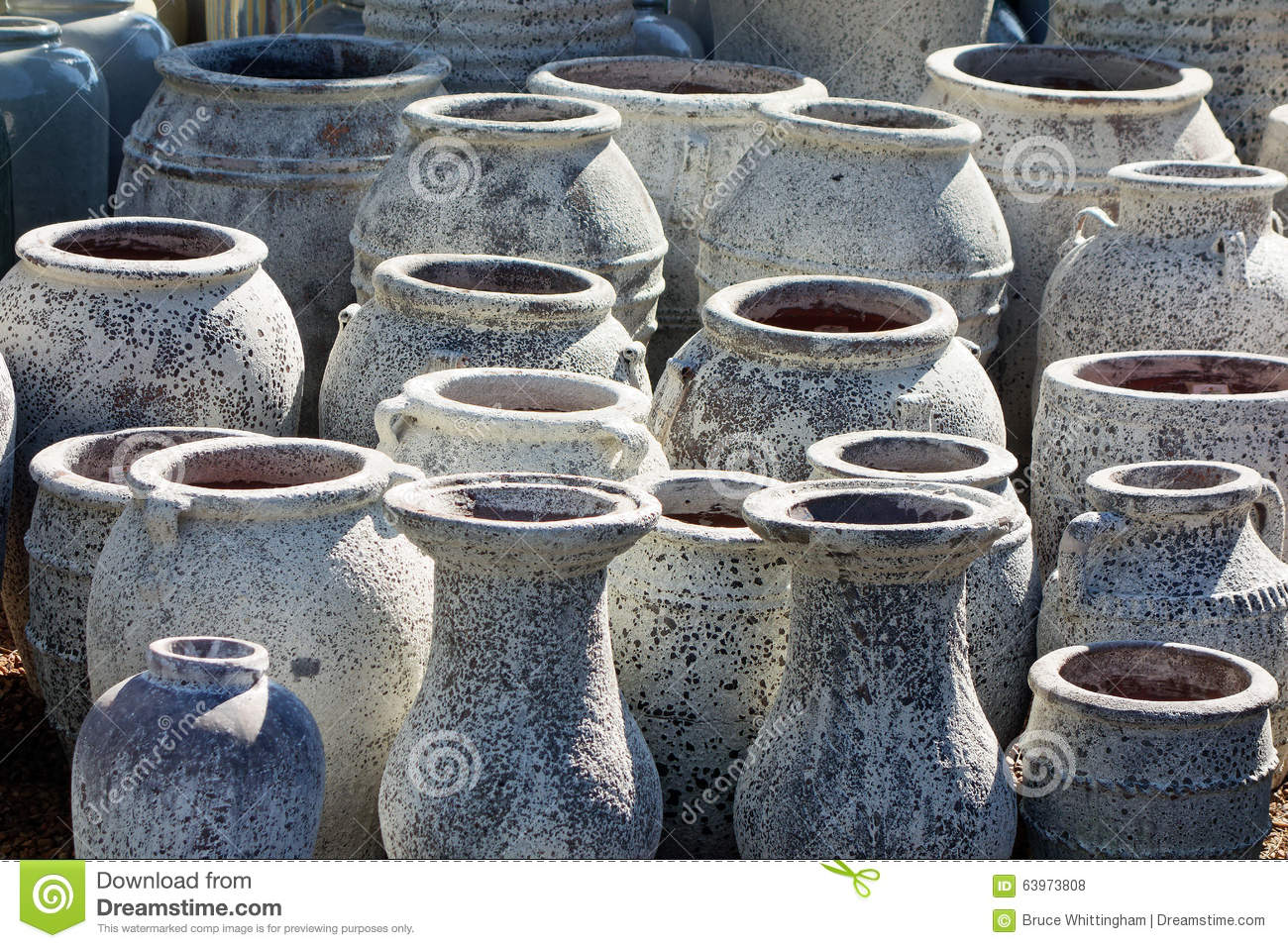 Large Ceramic Garden Pots Stock Photo Image 63973808
