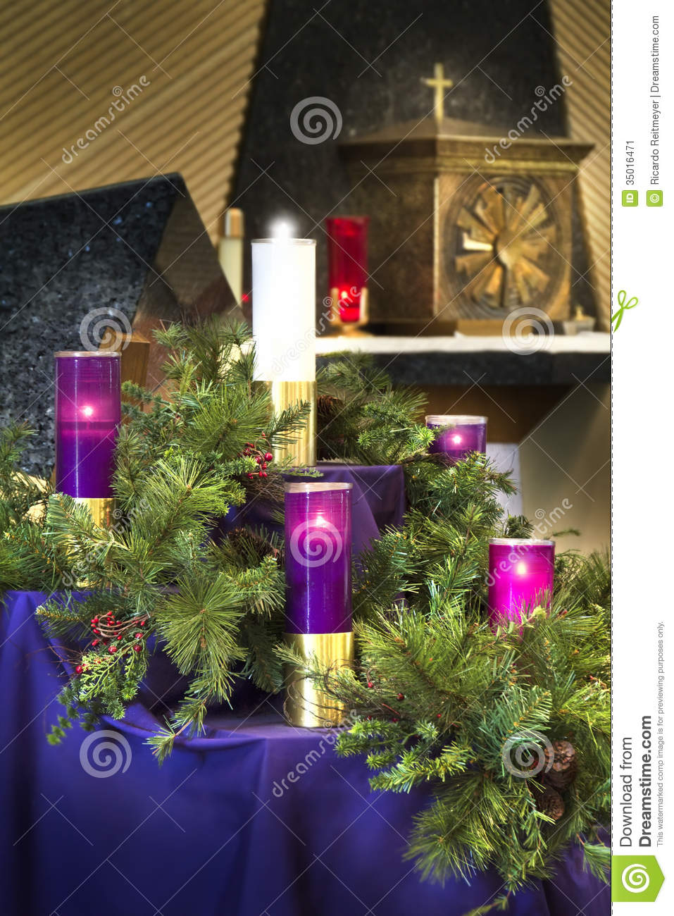 Large Christmas Advent Wreath Candles For Catholic Church ...