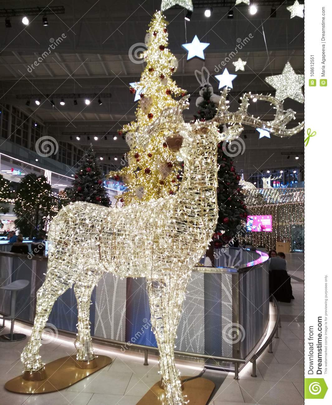 Large Christmas Decorations Editorial Photo Image Of Entertainment Electricity 108612551