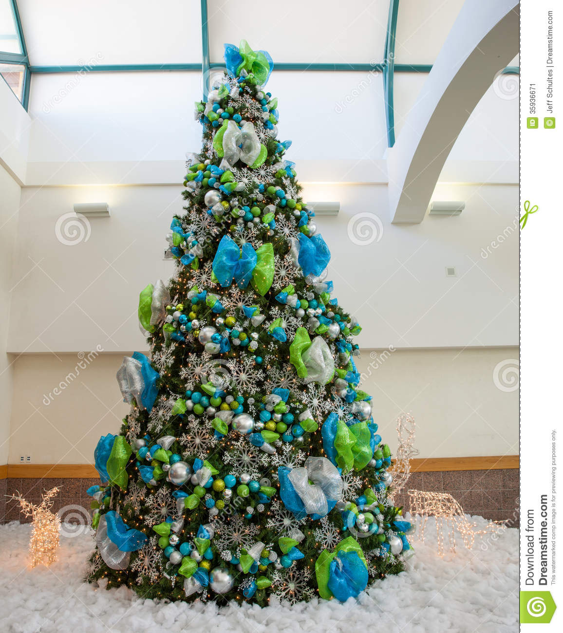 Large christmas tree stock image image of ornament Large decorated christmas trees
