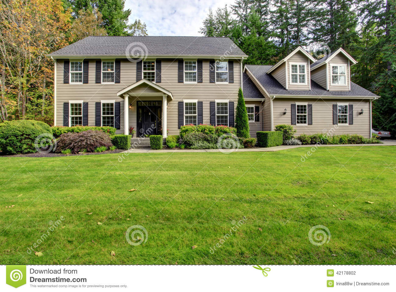 Large classic house exterior stock photo image 42178802 for American classic house