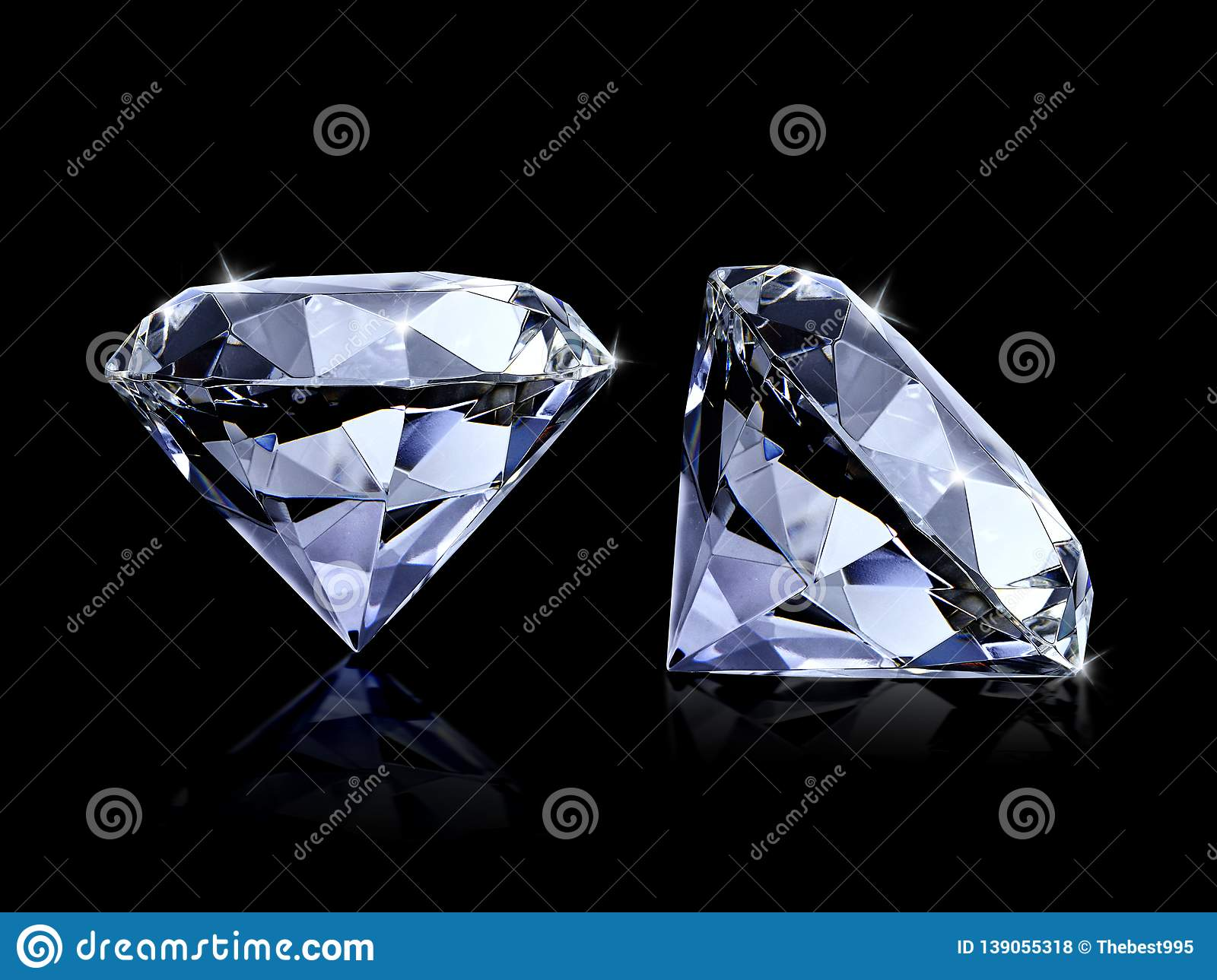 Large Clear Diamond, white background