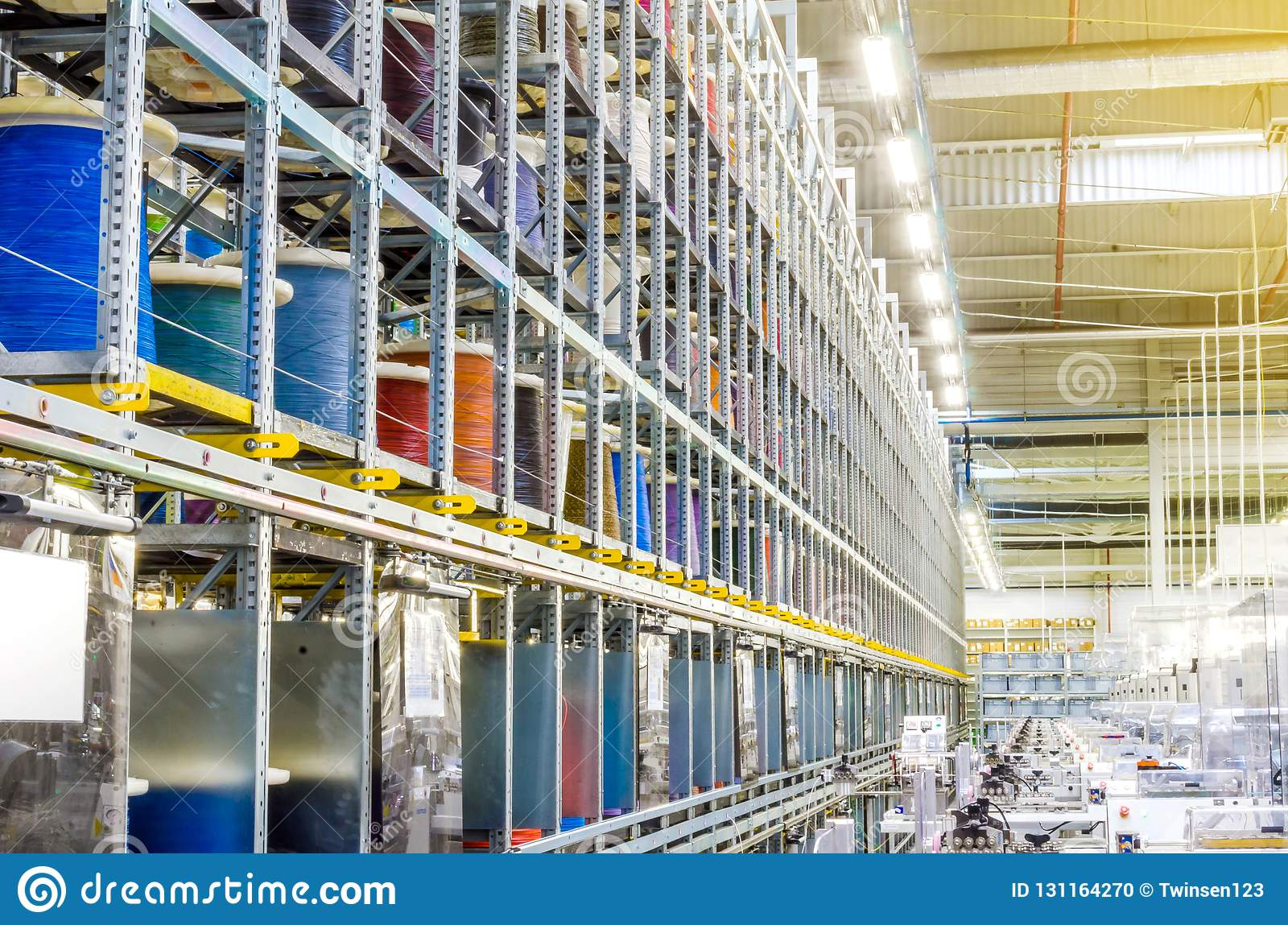 Large Coils With Colored Electrical Wires On Huge Shelves In ... on interior shelves, wood shelves, piping shelves, three shelves, plumbing shelves, concrete shelves, kitchen shelves, frame shelves, radiator shelves, parts shelves, security shelves, drywall shelves, blue shelves, welding shelves,
