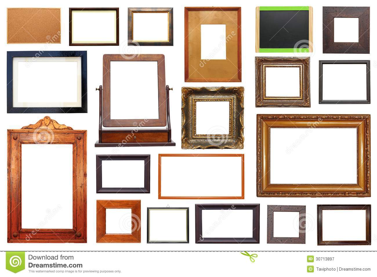 Large Collection Of Frames Royalty Free Stock Photography