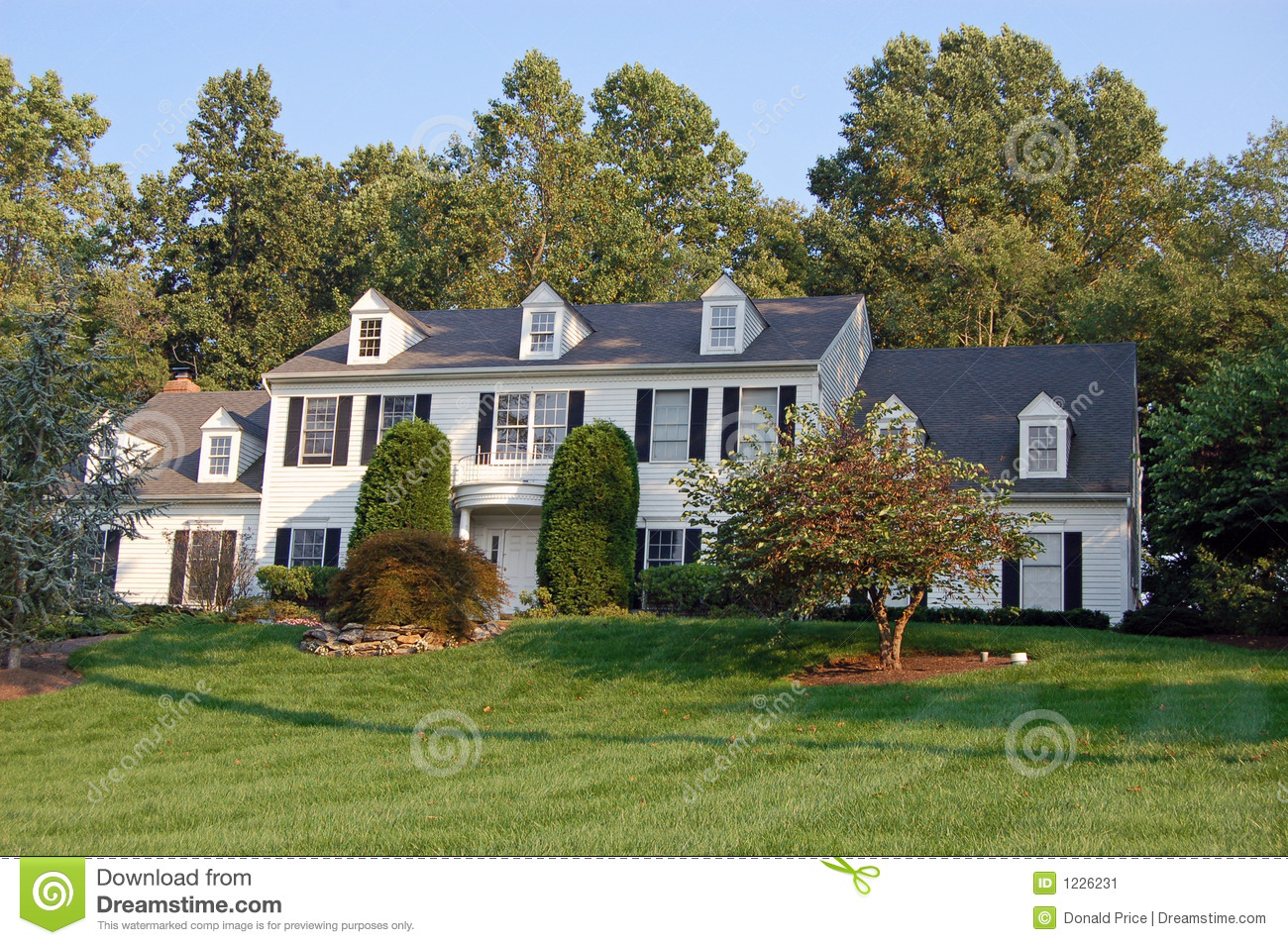 Large Colonial House Stock Image Image 1226231