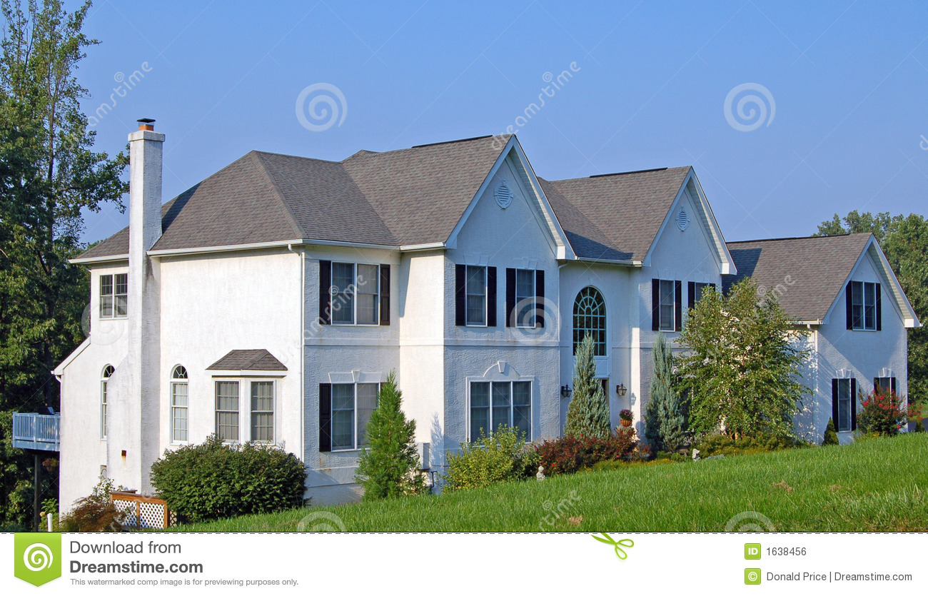 Large Colonial House Royalty Free Stock Image Image 1638456
