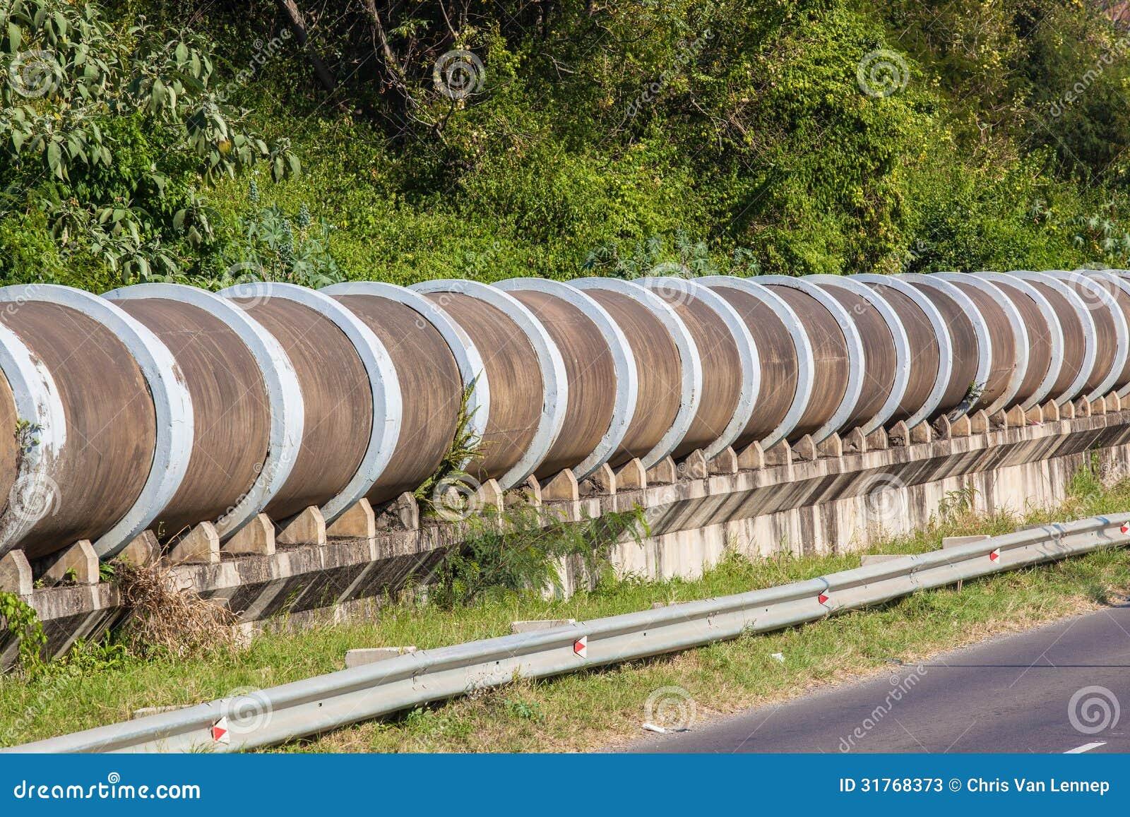 Concrete Drain Pipe : Large concrete drain pipe section stock photos image