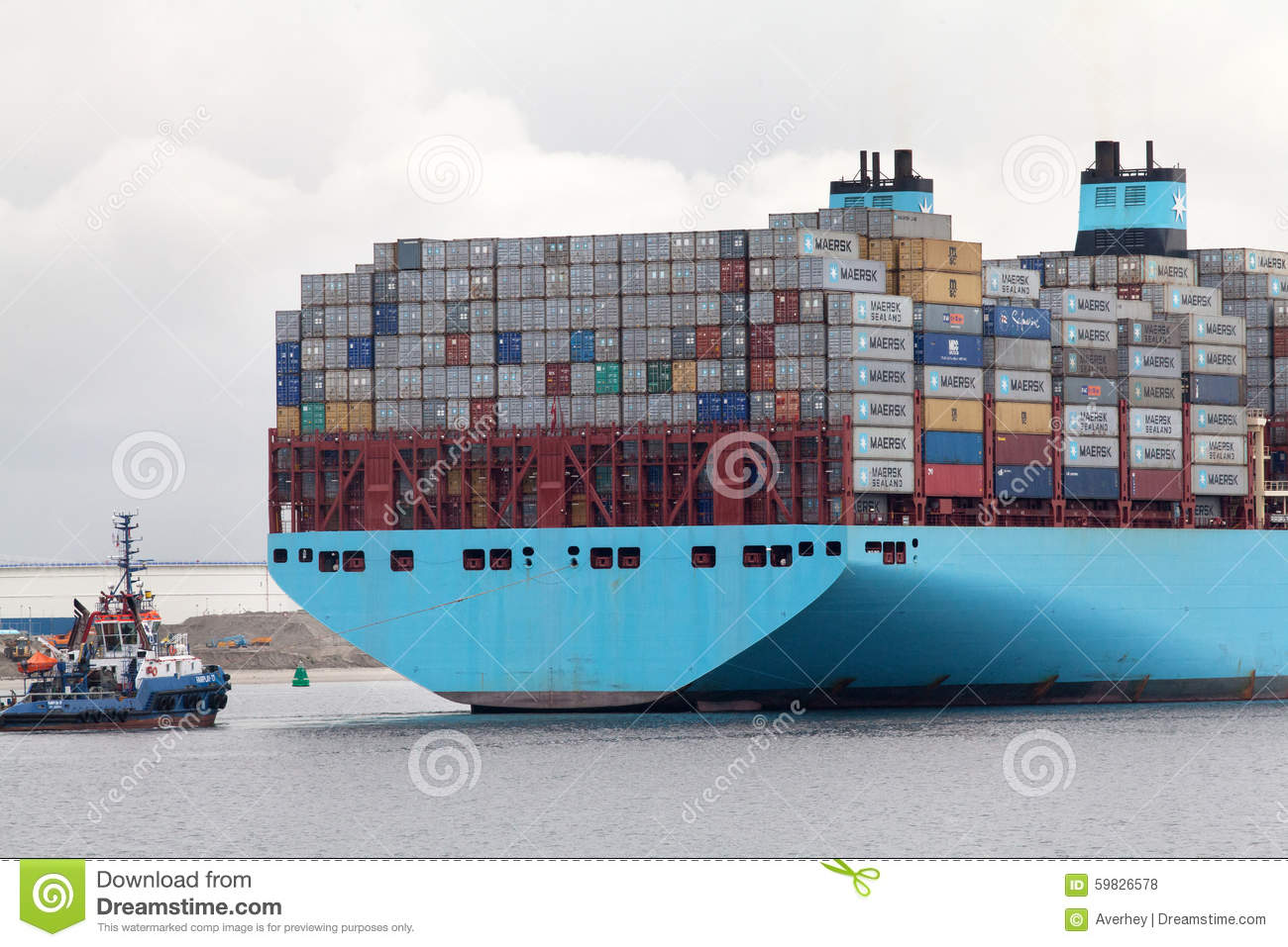 Large container ship editorial stock photo  Image of scene