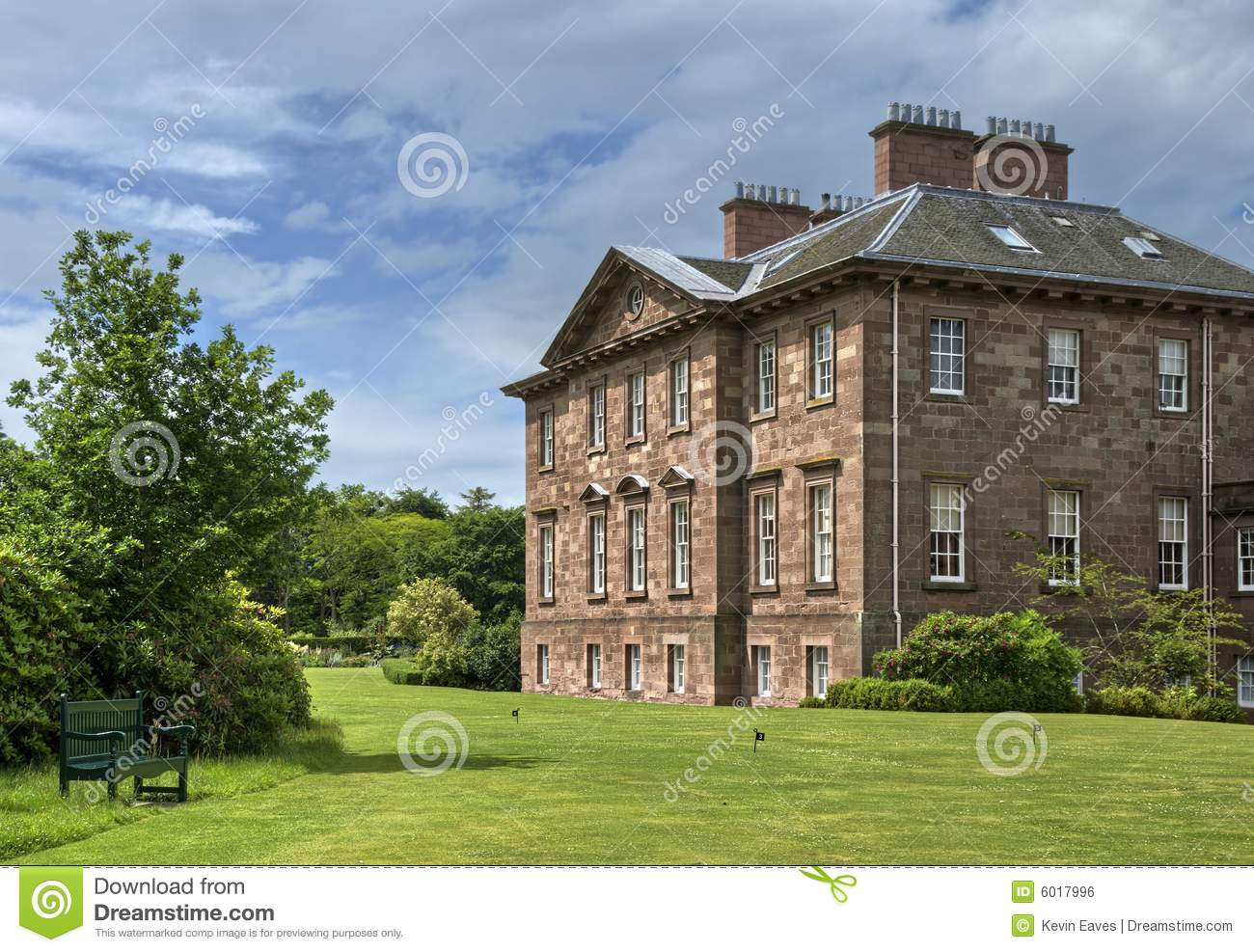 Large english country house and garden royalty free stock for Country house online