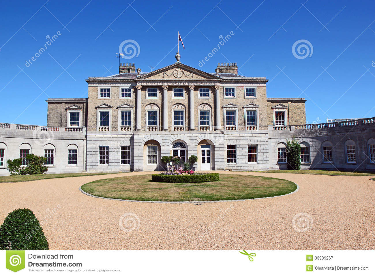 Large country house in england royalty free stock for Big houses in the country