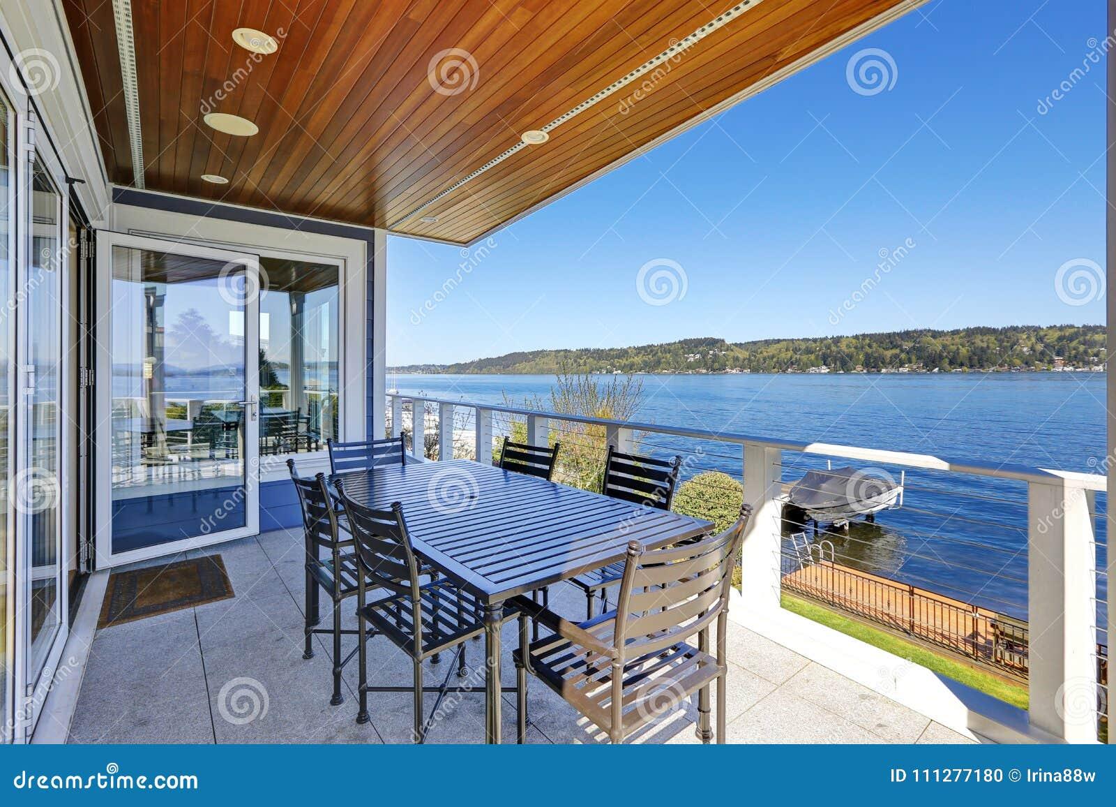 outdoor terrace lighting. Royalty-Free Stock Photo Outdoor Terrace Lighting