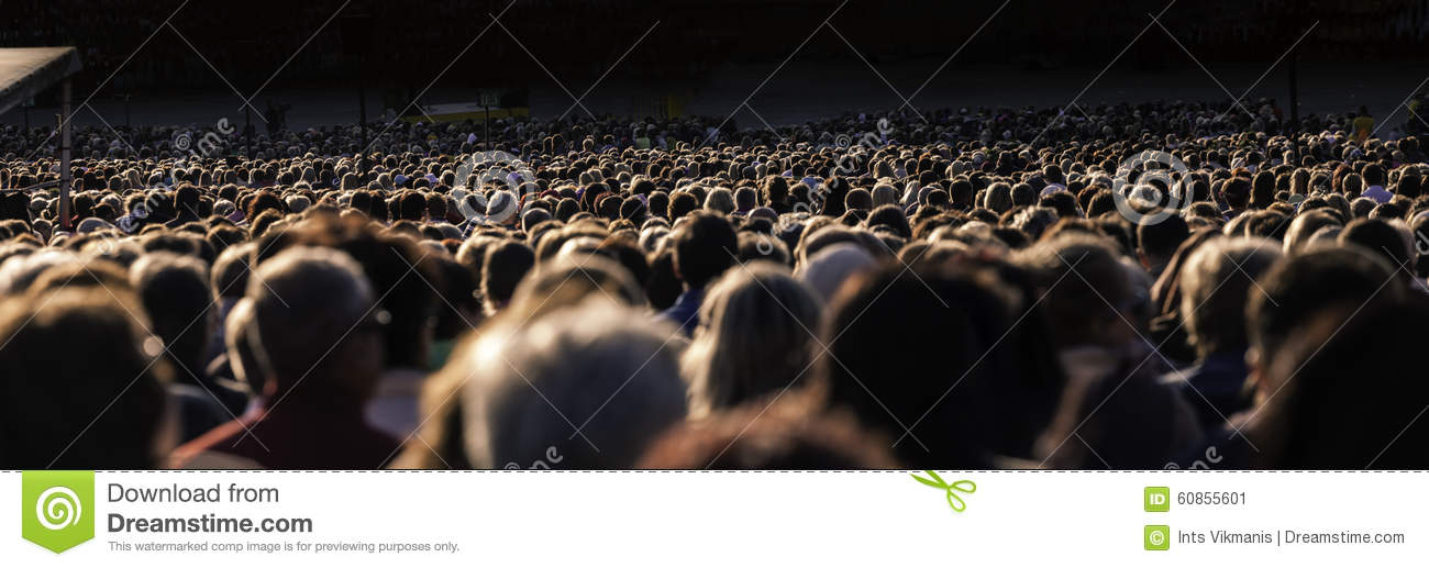 Large crowd of people