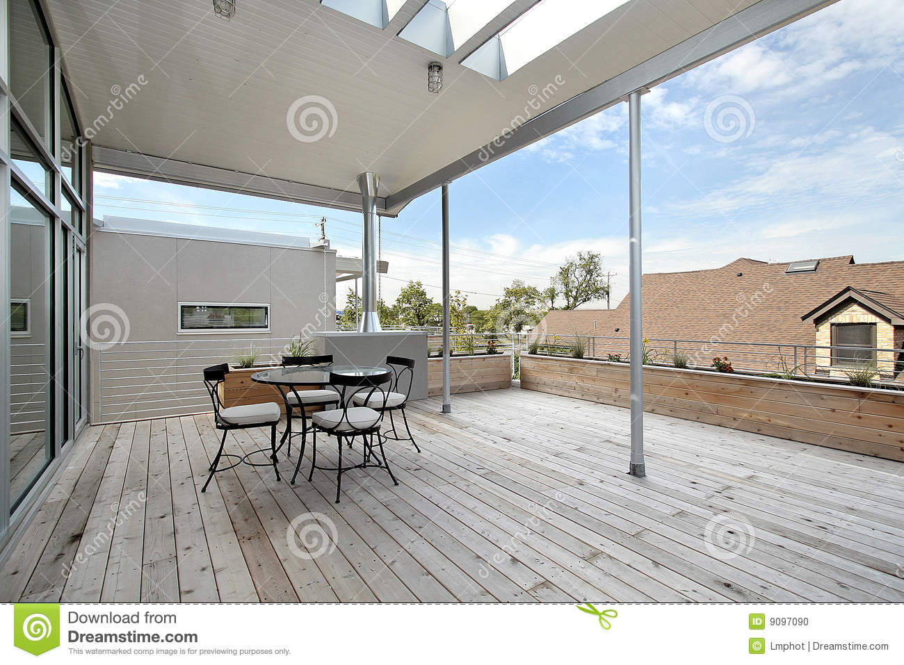 Large Deck Off Of Master Bedroom Stock Photo Image 9097090