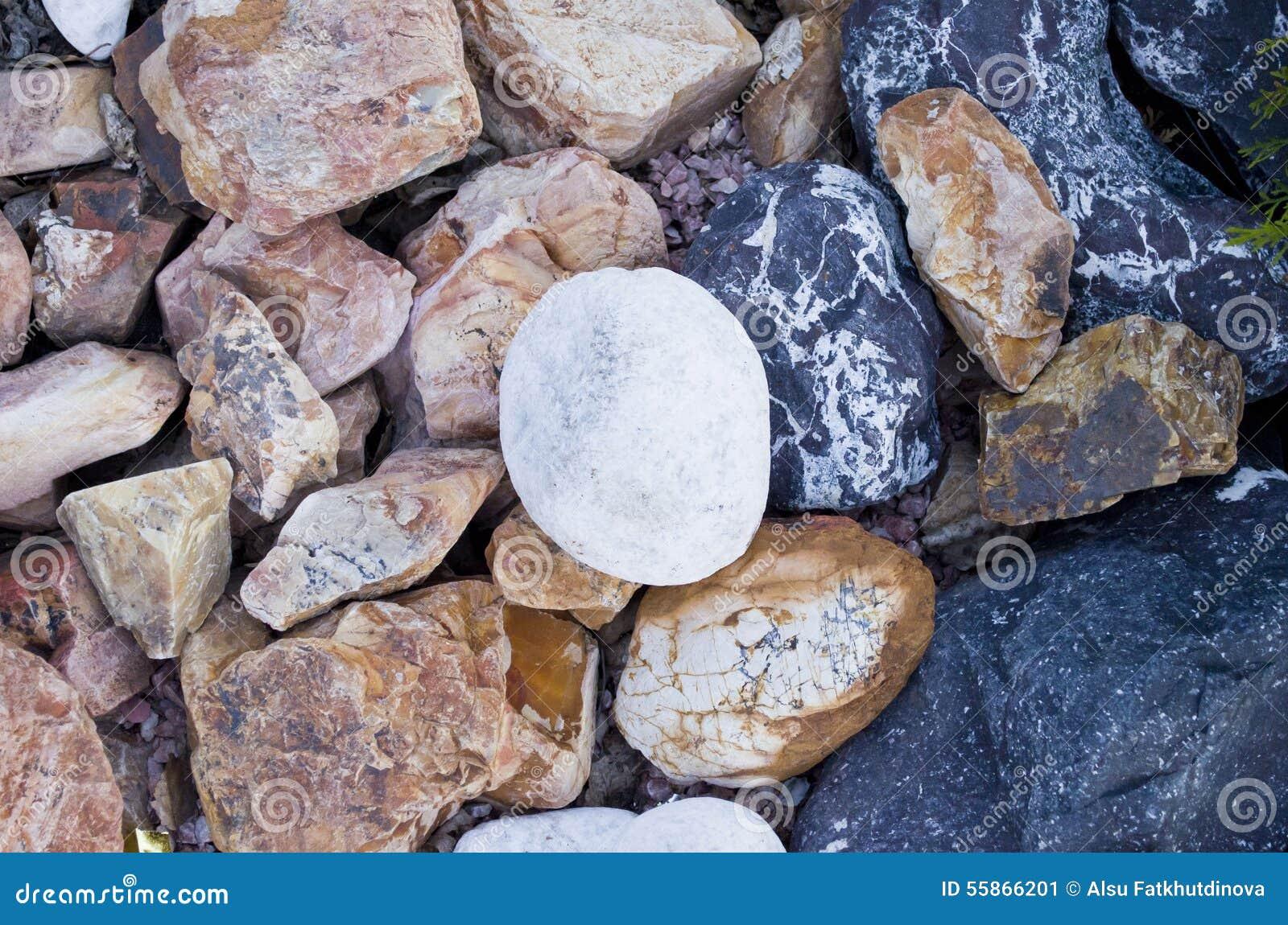 Large Decorative Stone : Large decorative rocks and stones stock image