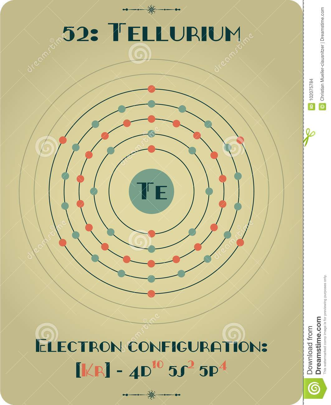 Element of Tellurium stock vector. Illustration of college ...