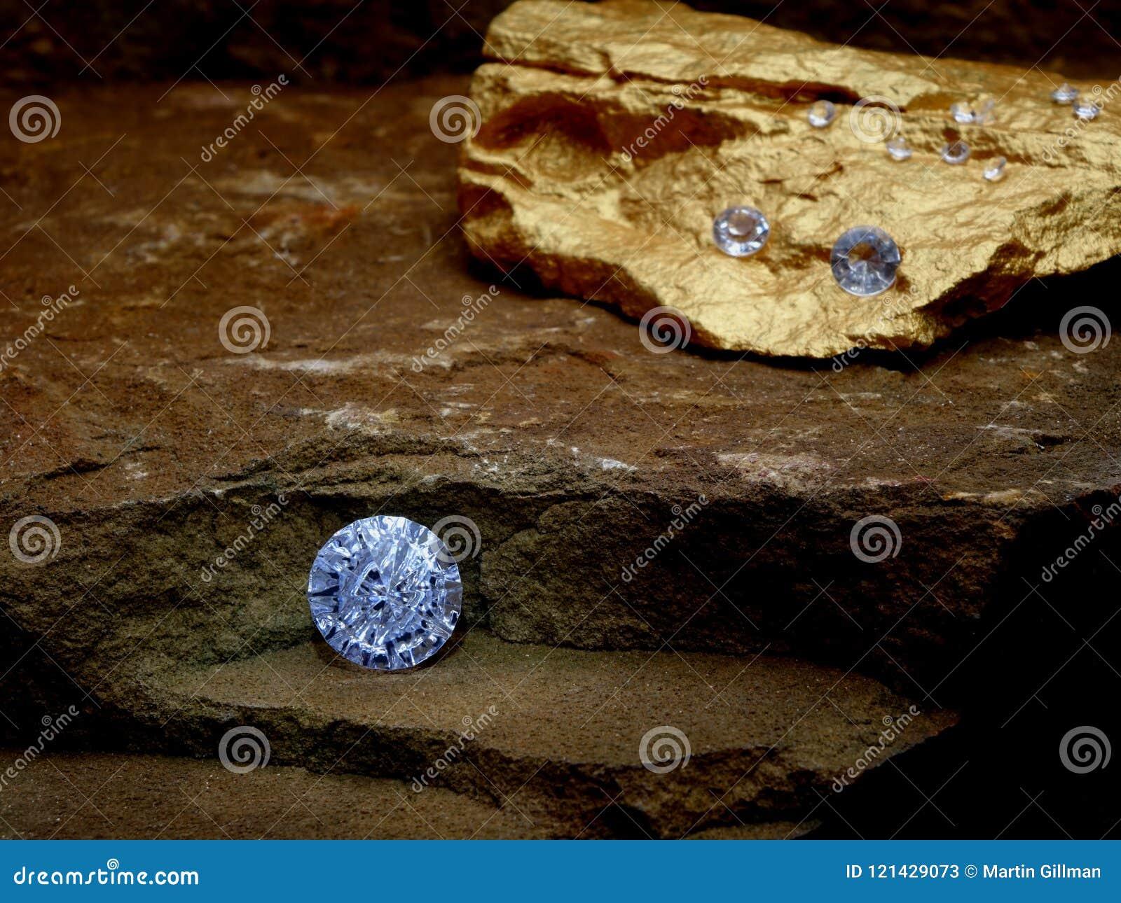 A Diamond on a Rock Step.