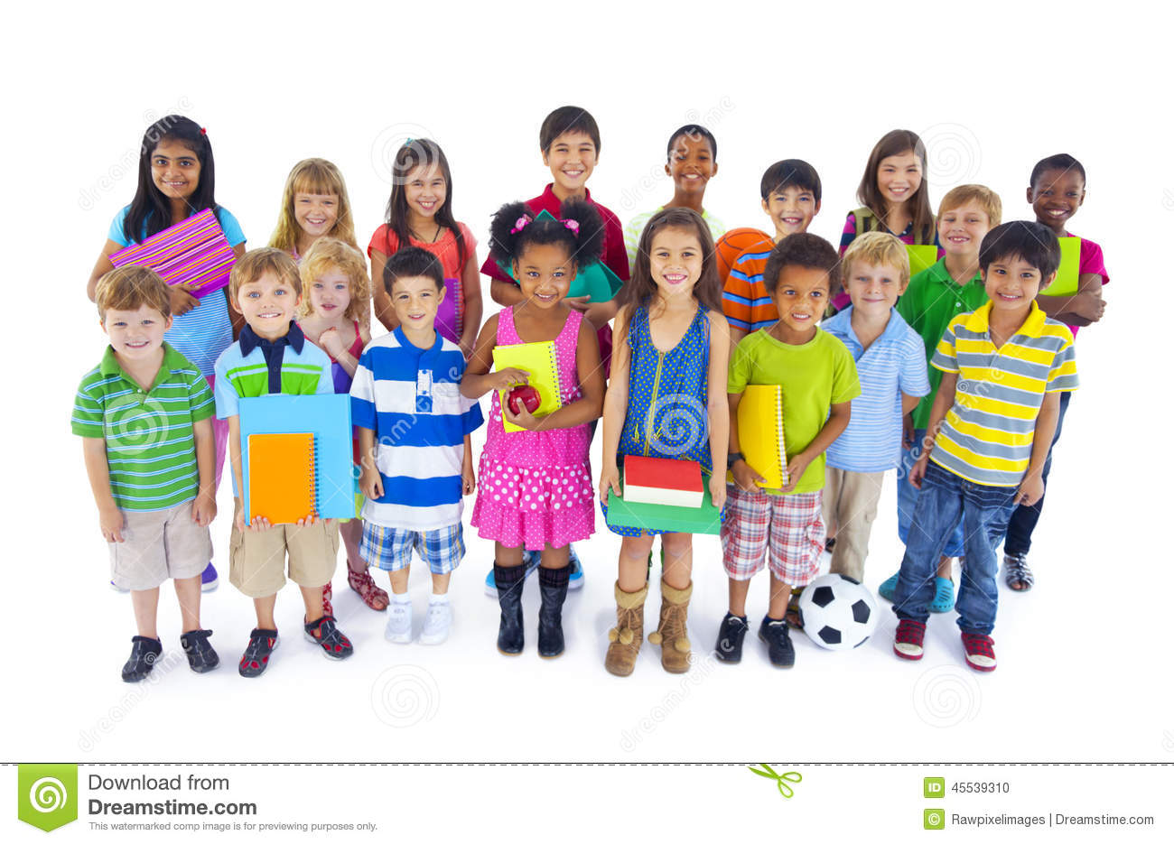 Large Diverse Group Of Children Stock Photo - Image: 45539310