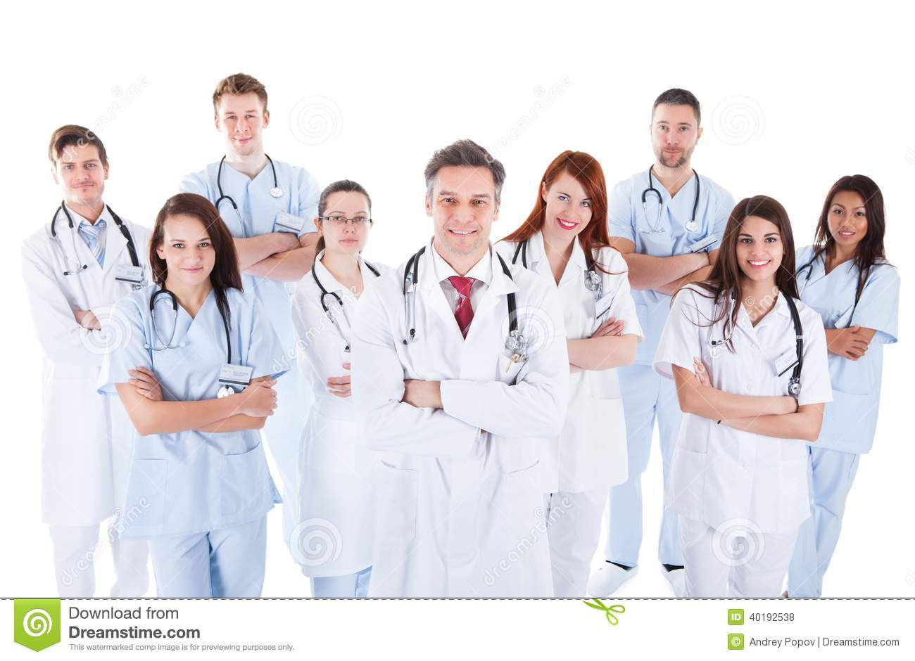 Large Diverse Group Of Medical Staff In Uniform Stock Photo - Image ...