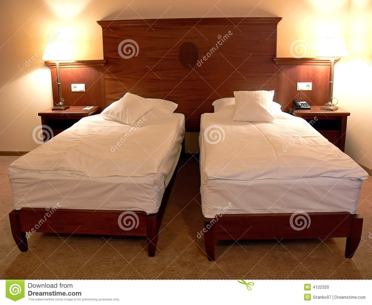 Large Double Bed Stock Photo Image 4122320