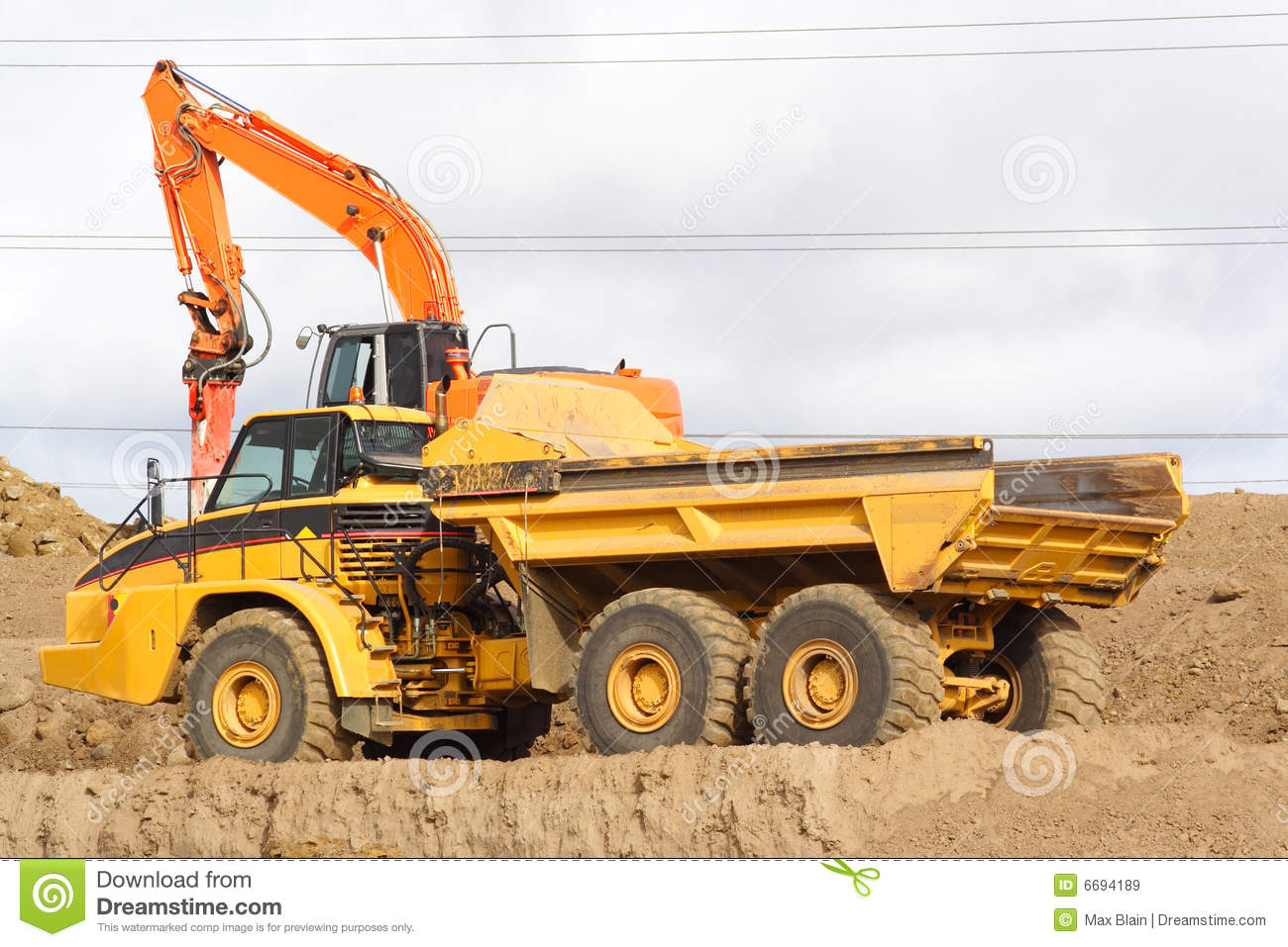 Royalty free stock photo download large dump truck