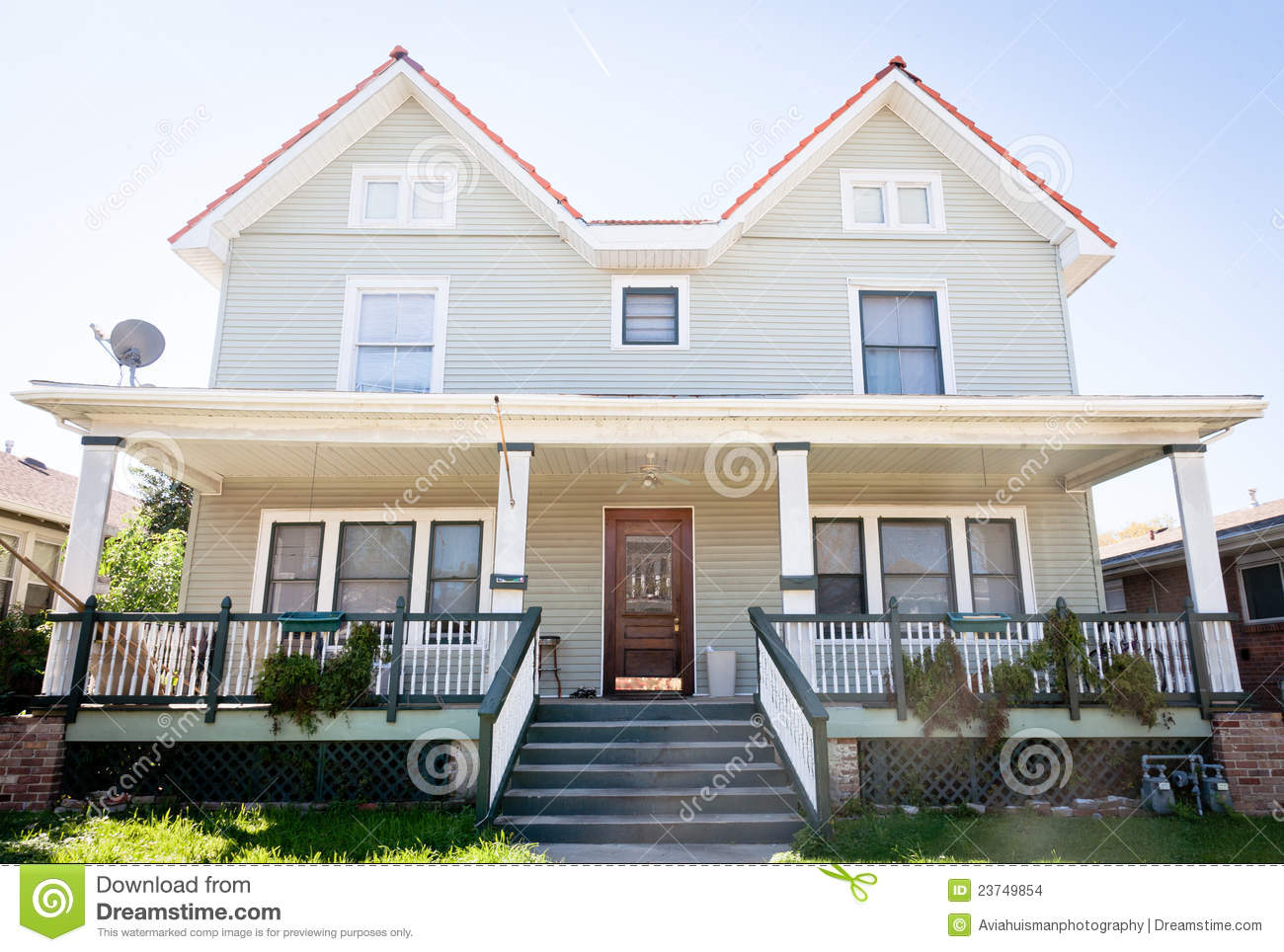 Large Duplex Home Stock Images Image 23749854