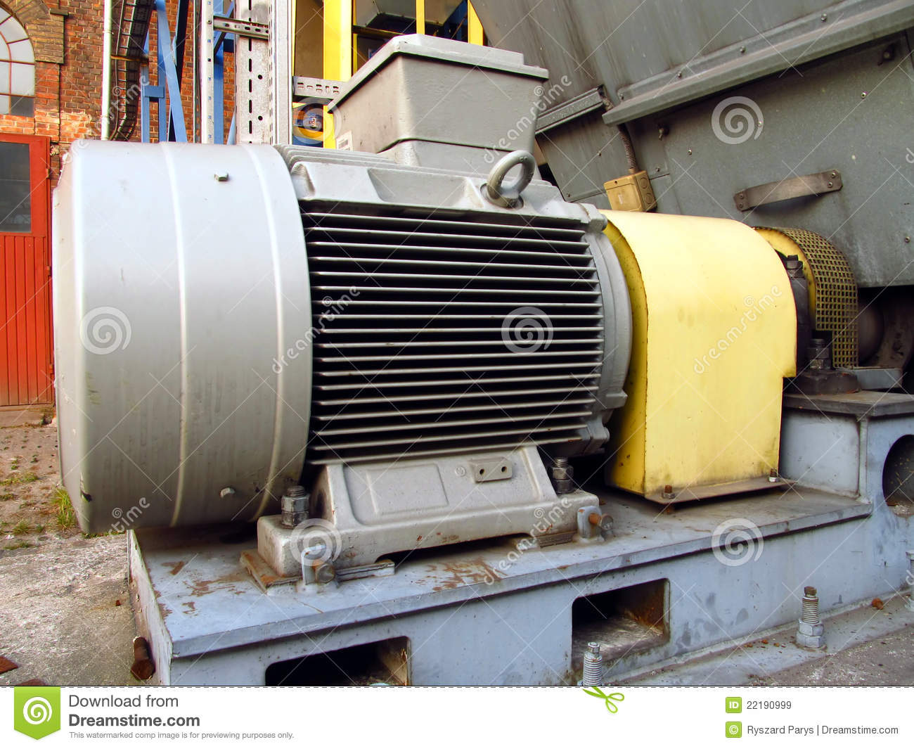 Large Electric Motor Royalty Free Stock Images Image