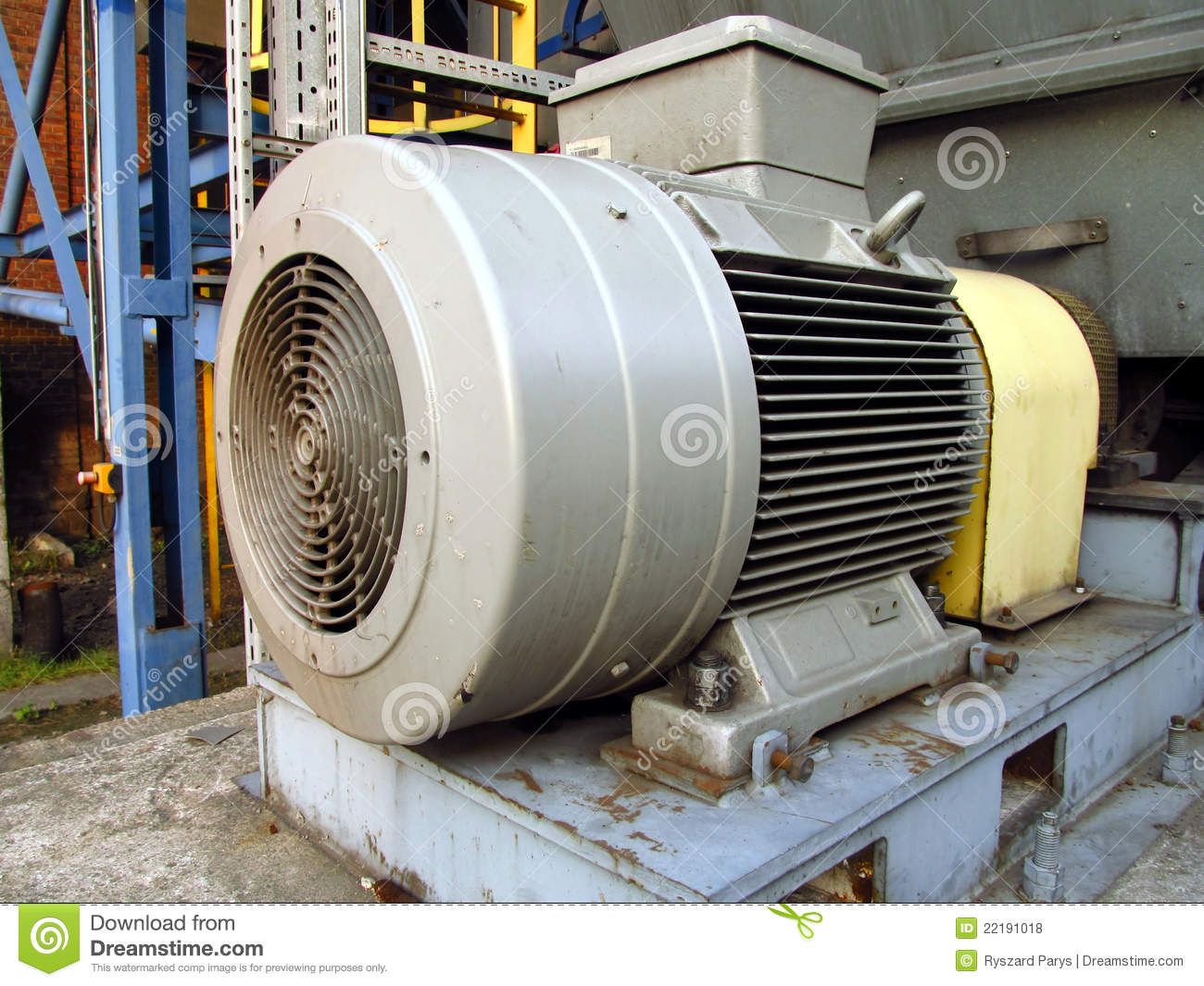 Large Electric Motor Stock Photo Image Of Exhaust