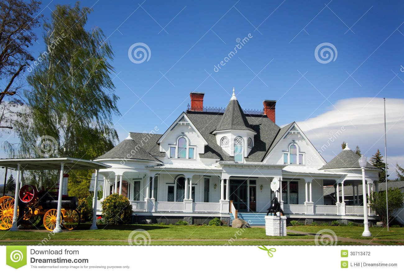 Elegant Country Mansion Stock graphy Image