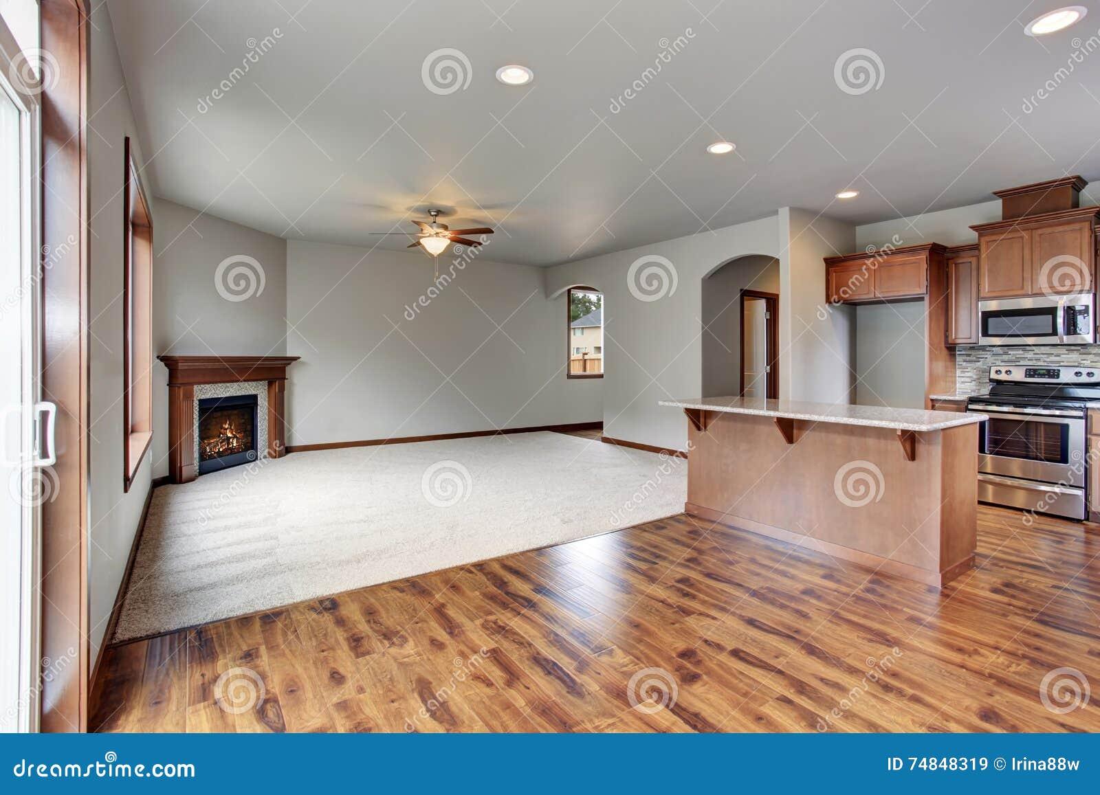 Beautiful Kitchen Interior New Luxury Home Stock Photo ...