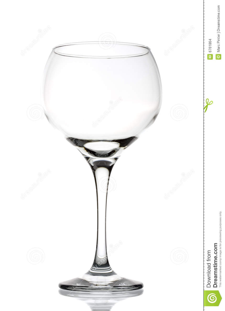 Large empty red wine glass stock images image 6761864 for Large red wine glass