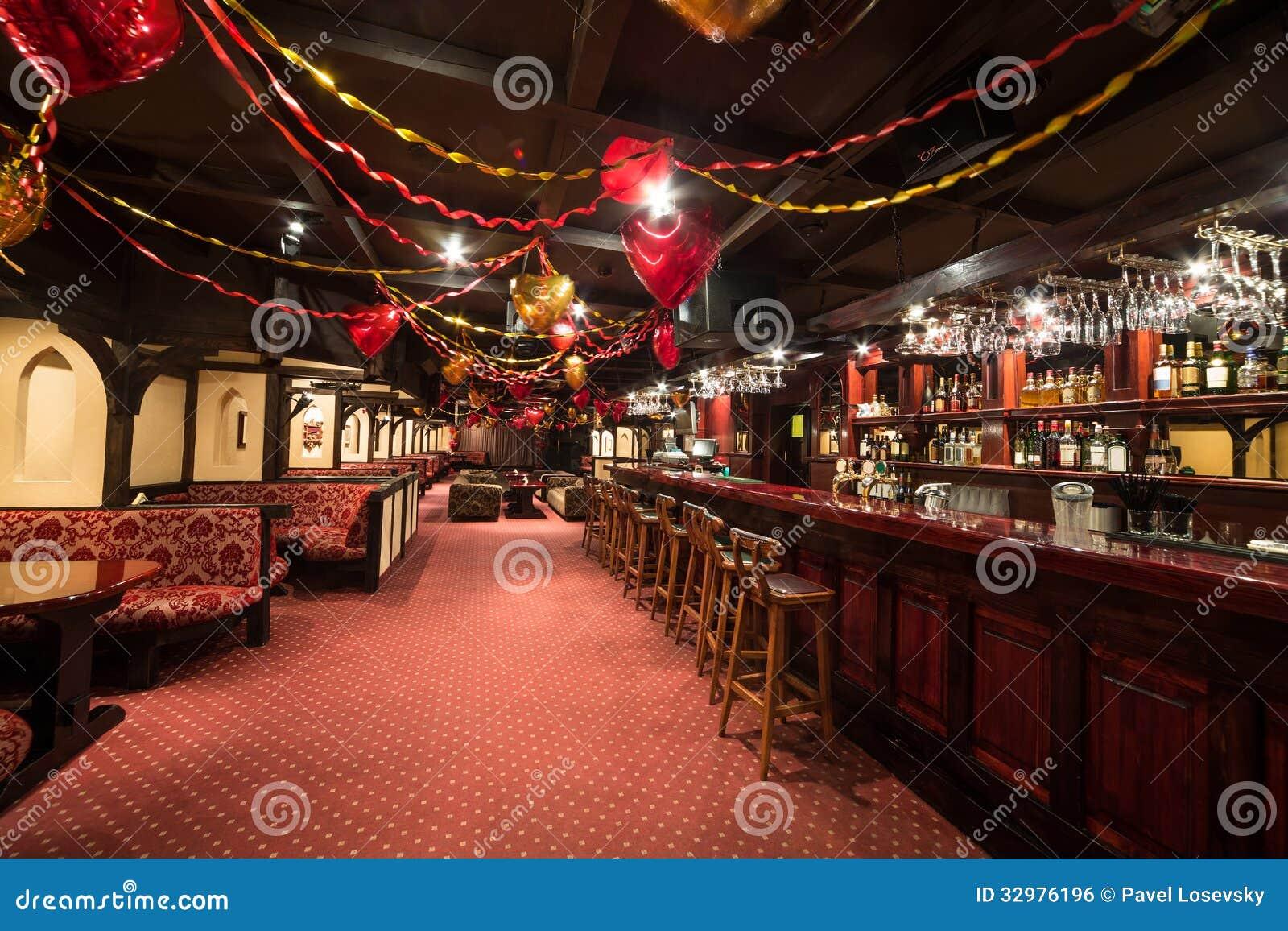 The Large Empty Room Of Karaoke Club PHARAOH Editorial
