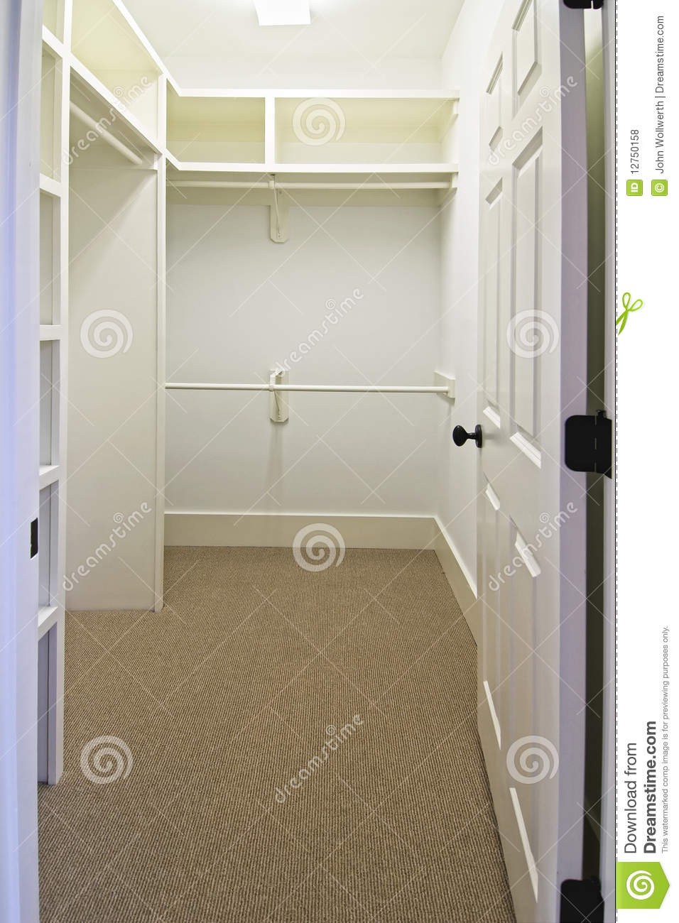 Large Empty Walk In Closet Stock Photo Image Of Closet