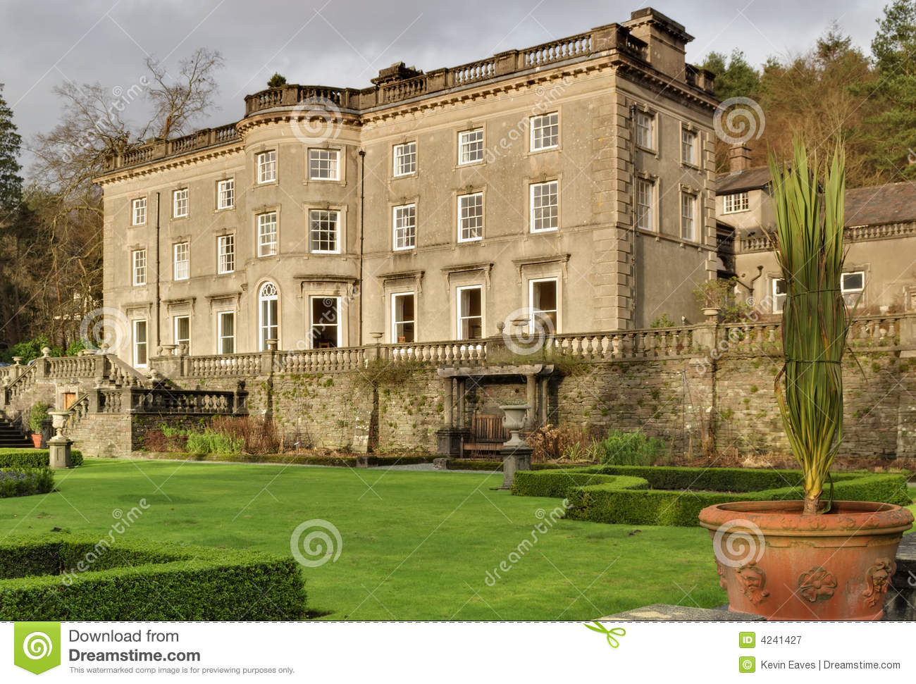 Large english country house and garden royalty free stock for Pictures of english country houses