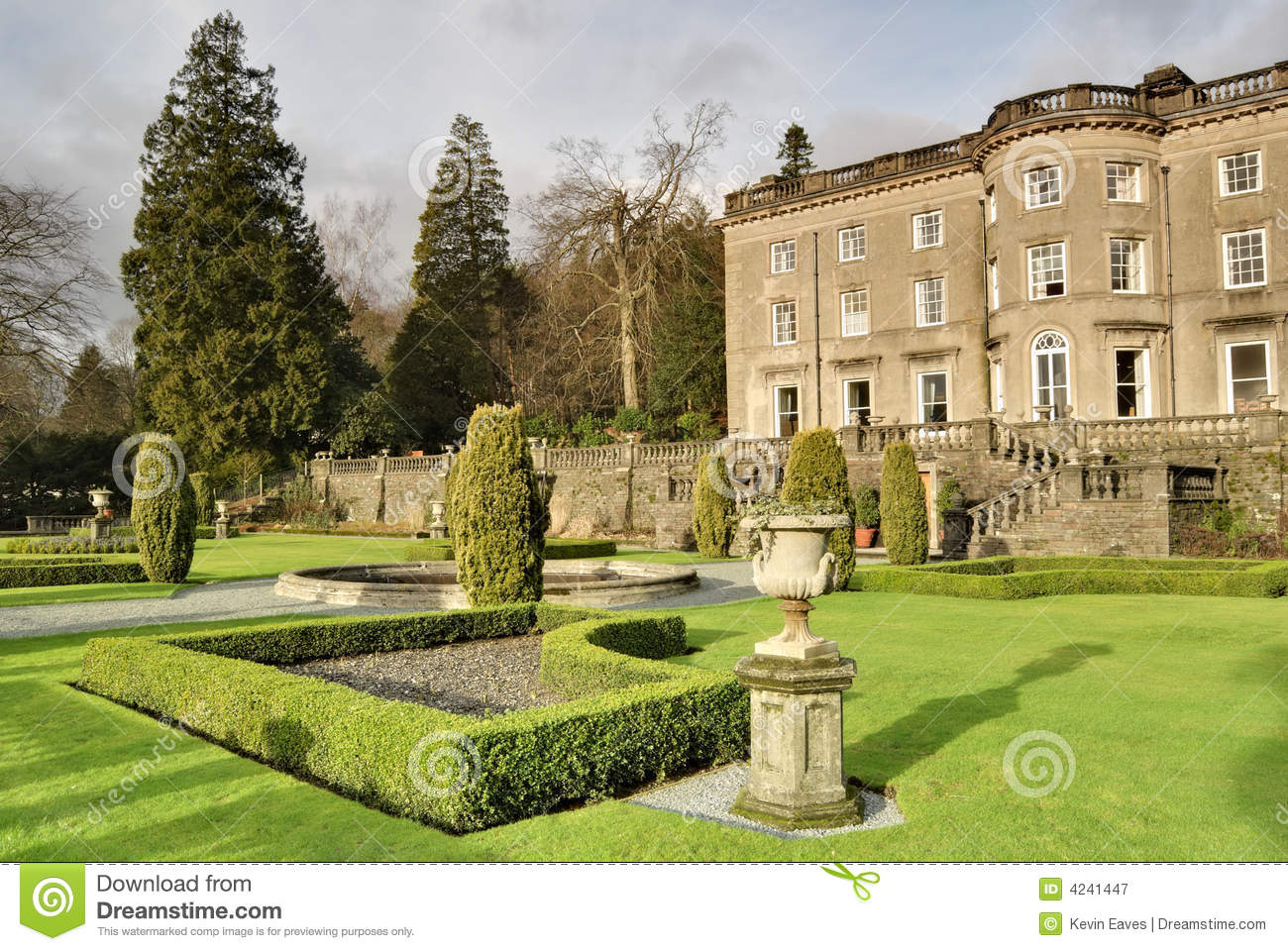 Large English Country House And Garden Royalty Free Stock ...