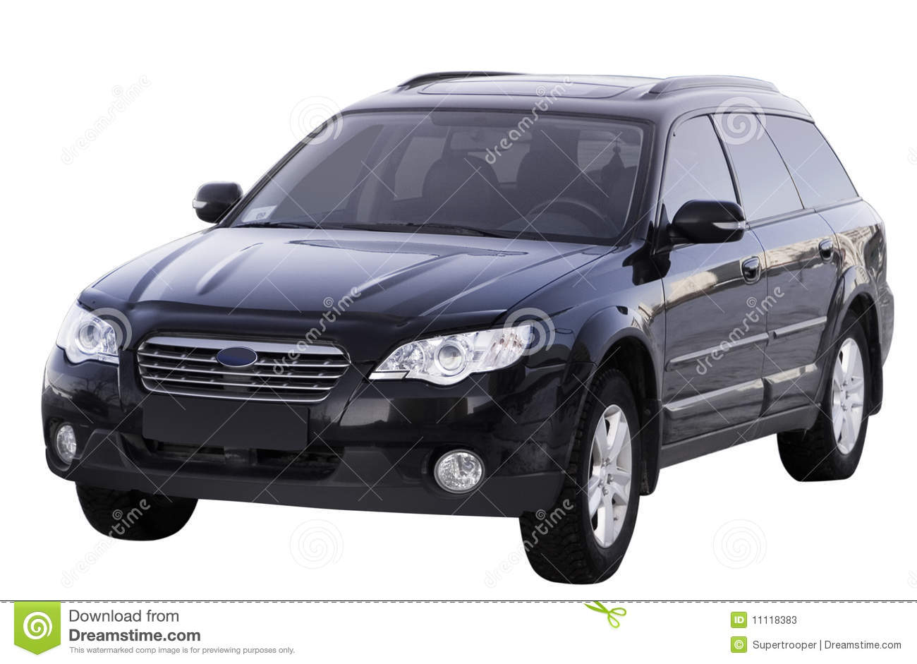 Large Family Car Isolated Stock Photos