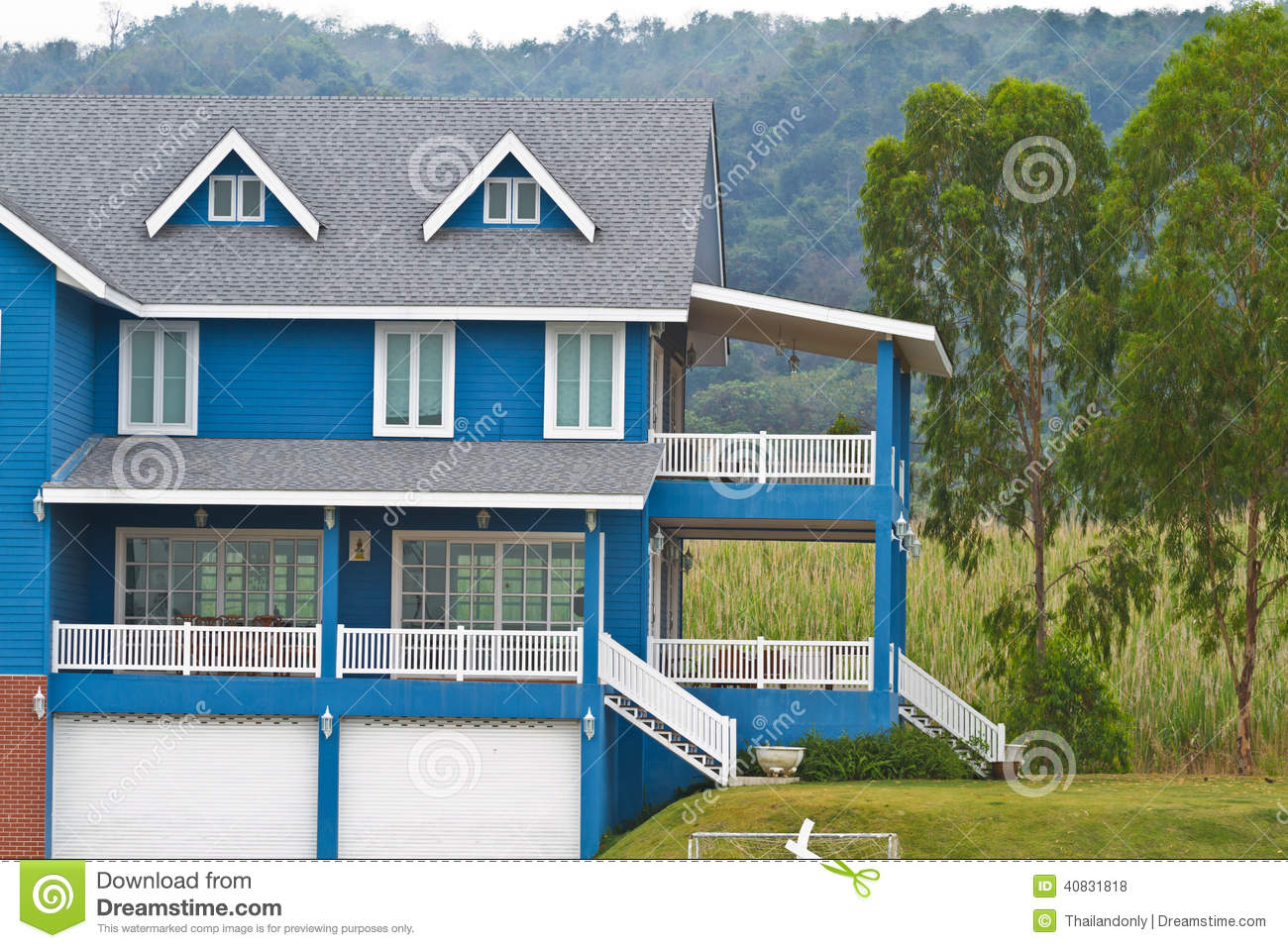 Large family home in rural area stock photo image 40831818 for Large family home